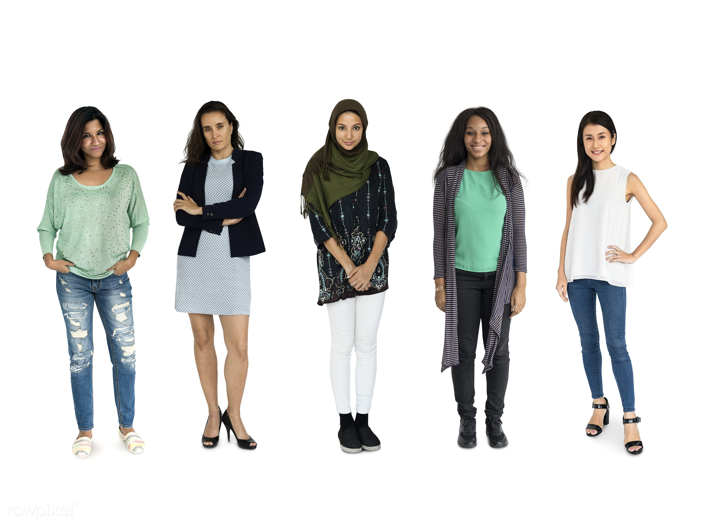 Diverse people set - studio, person, diverse, set, retired, little, collection, people, pretty, together, attraction,...