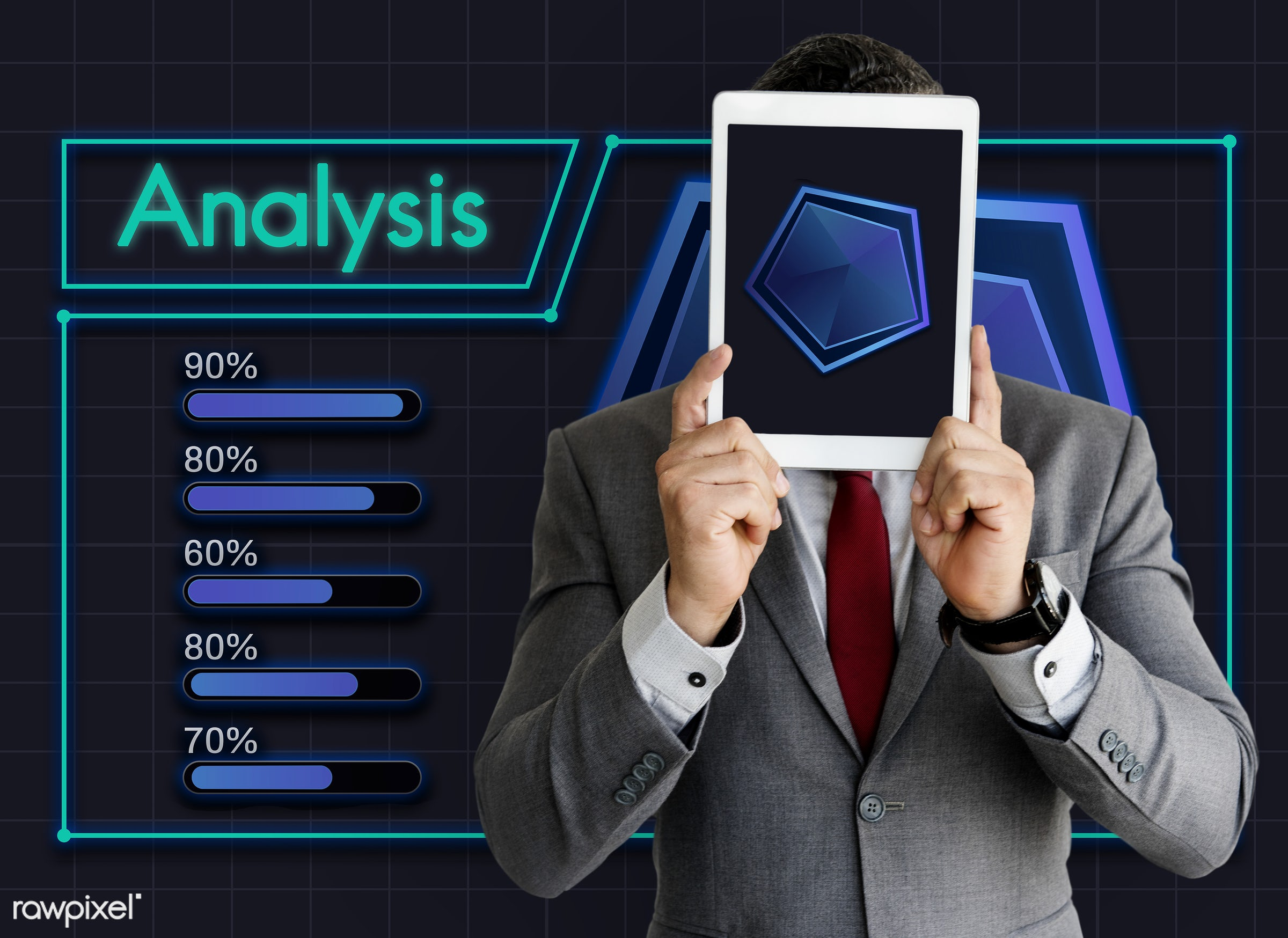 Data analysis on digital tablet - analysis, business, covered, covering, data, digital tablet, display, graph, graphic,...