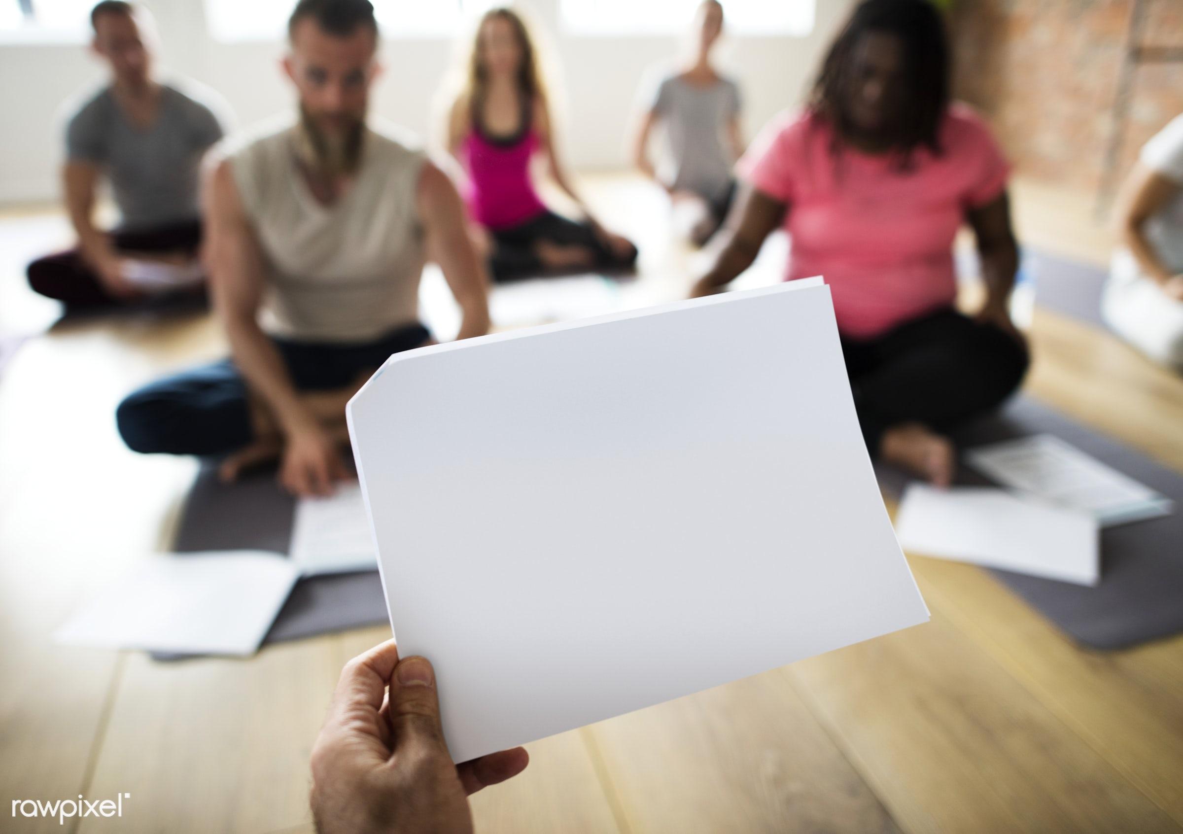 yoga, mock up, active, activity, balance, blank, class, contemplation, copy space, diverse, diversity, empty, exercise,...