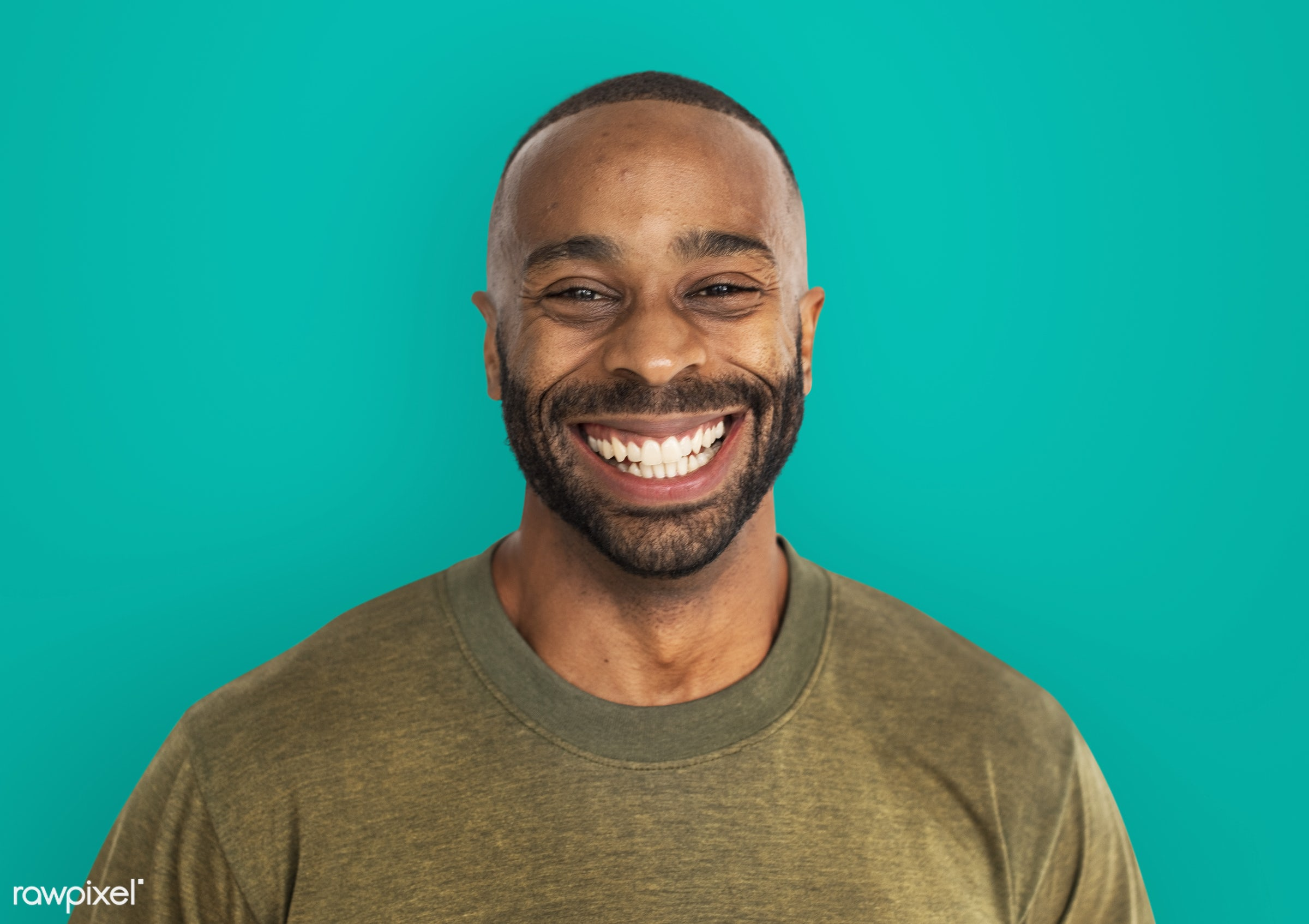 Portrait of muscular african american man - expression, person, caucasian, lifestyle, positive, cheerful, smiling, gentleman...