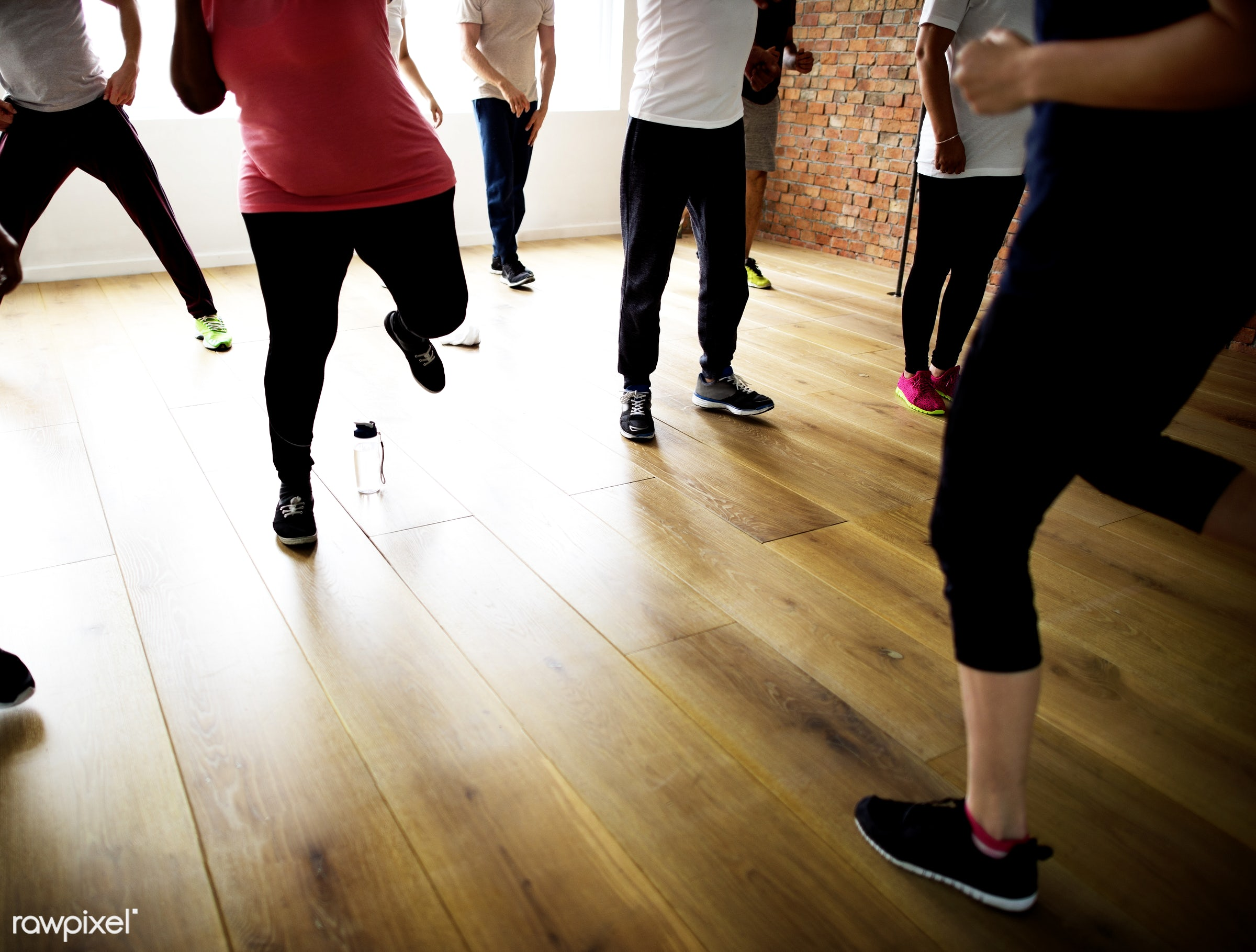 respiration, physical, diverse, relax, variation, recreation, stretching, people, together, practicing, lifestyle, gym,...