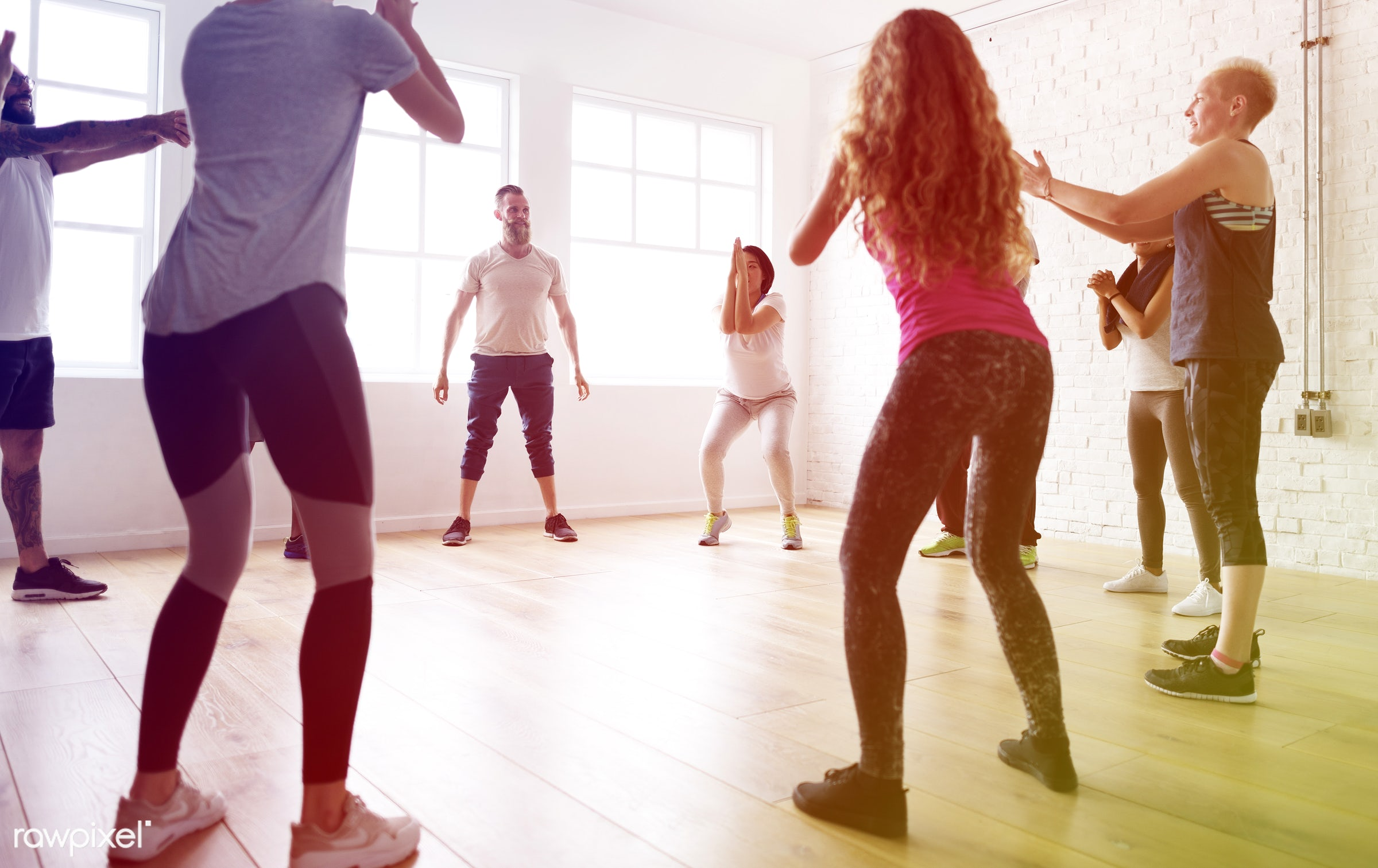 studio, physical, diverse, recreation, people, stretching, lomo, practicing, lifestyle, gym, flexibility, aerobics, class,...