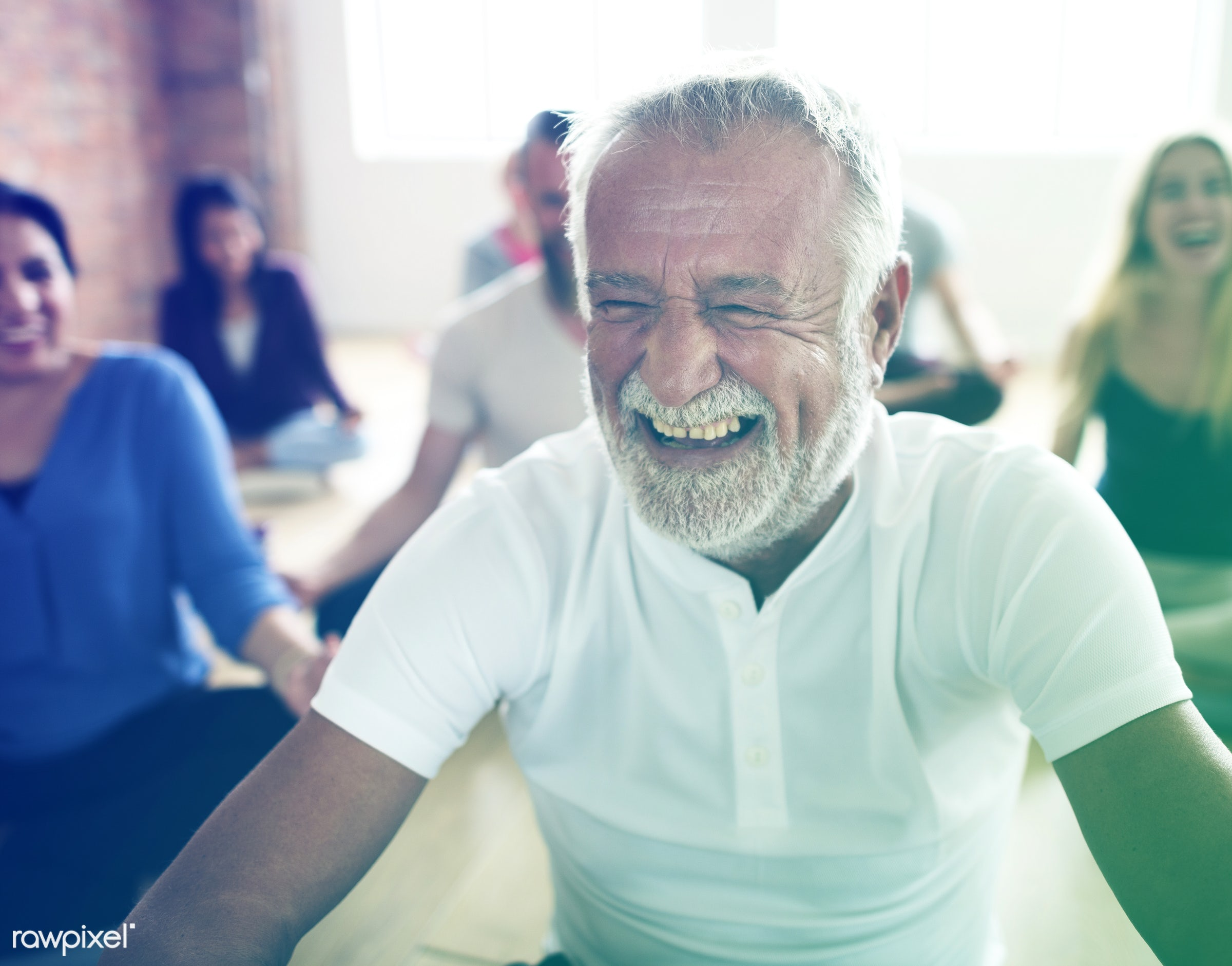studio, physical, old, diverse, fitness, white-haired, recreation, people, training, laughing, fit, lomo, happy, wellness,...