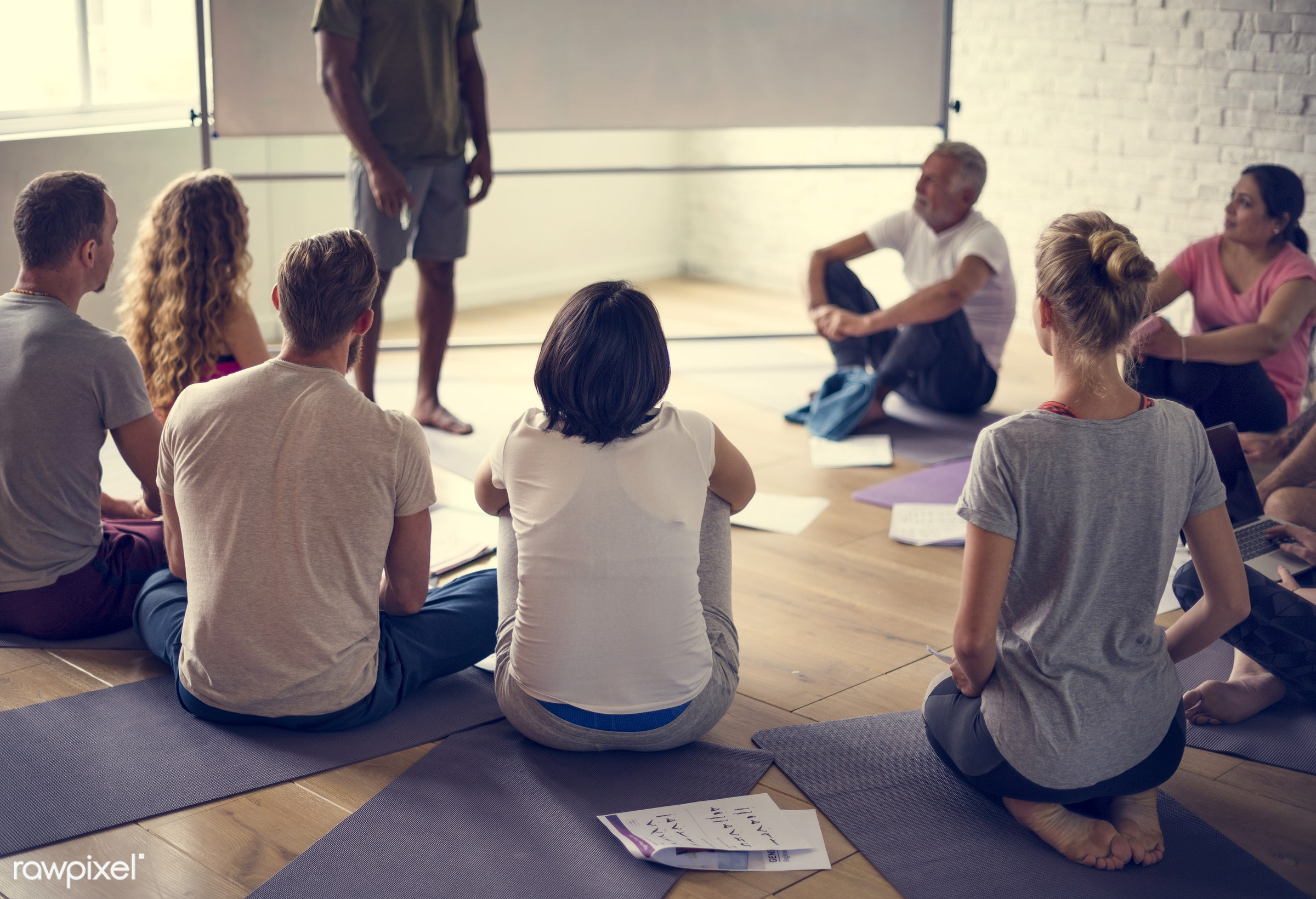 respiration, physical, diverse, relax, recreation, stretching, people, together, balance, practicing, lifestyle, flexibility...