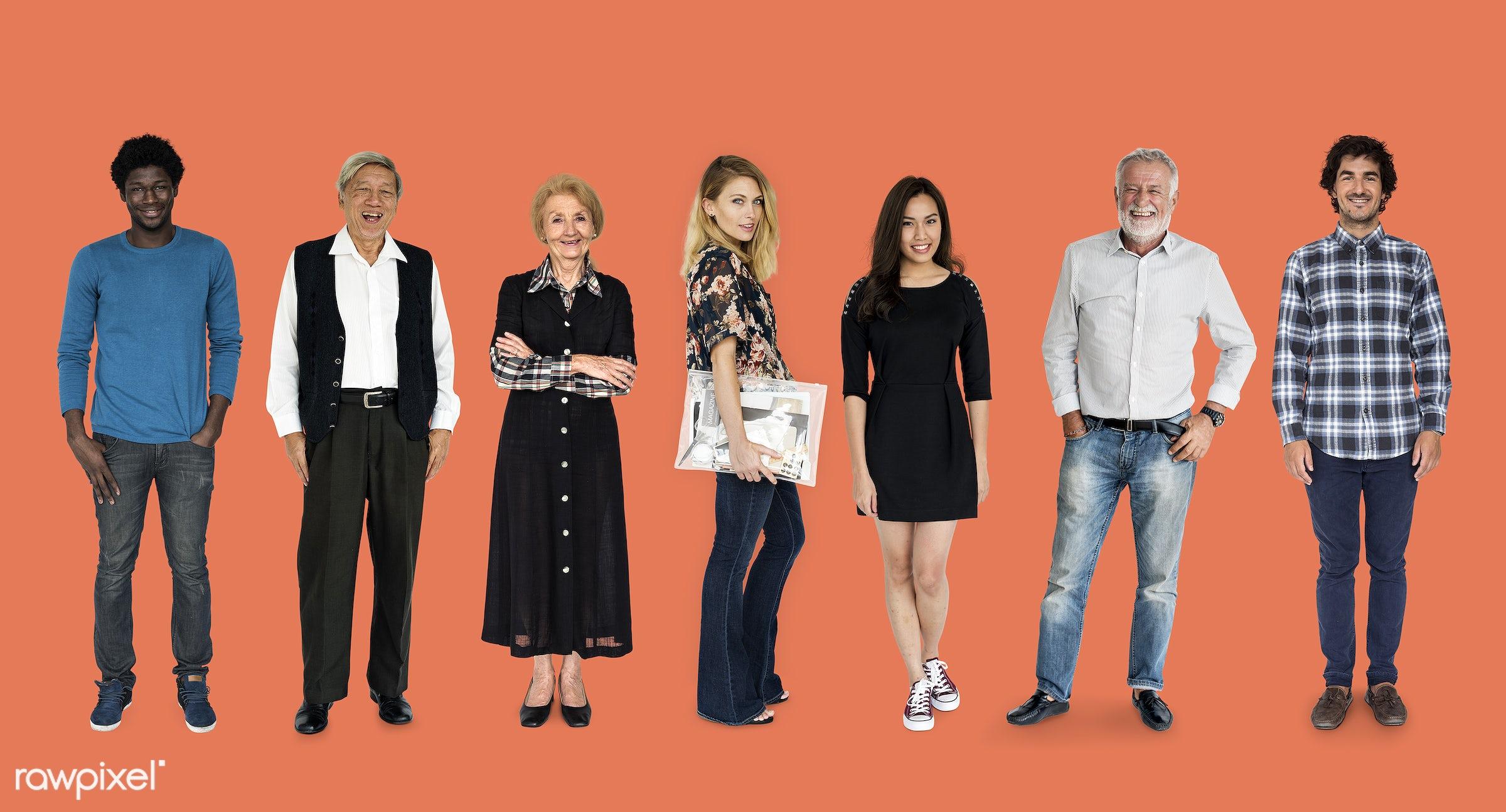 gentlemen, studio, person, diverse, set, retired, retire, people, attraction, together, asian, caucasian, retirement, life,...