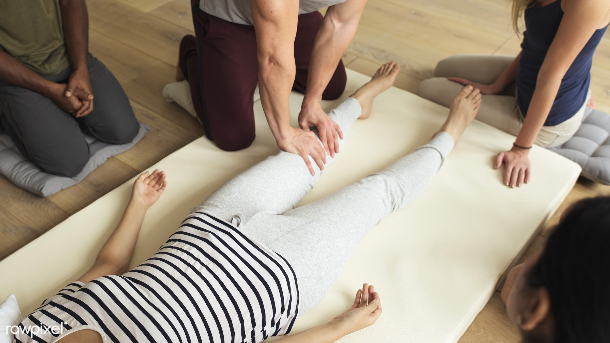 position, person, knowledge, relax, treatment, indoors, massaging, masseur, people, comfortable, training, course, tranquil...
