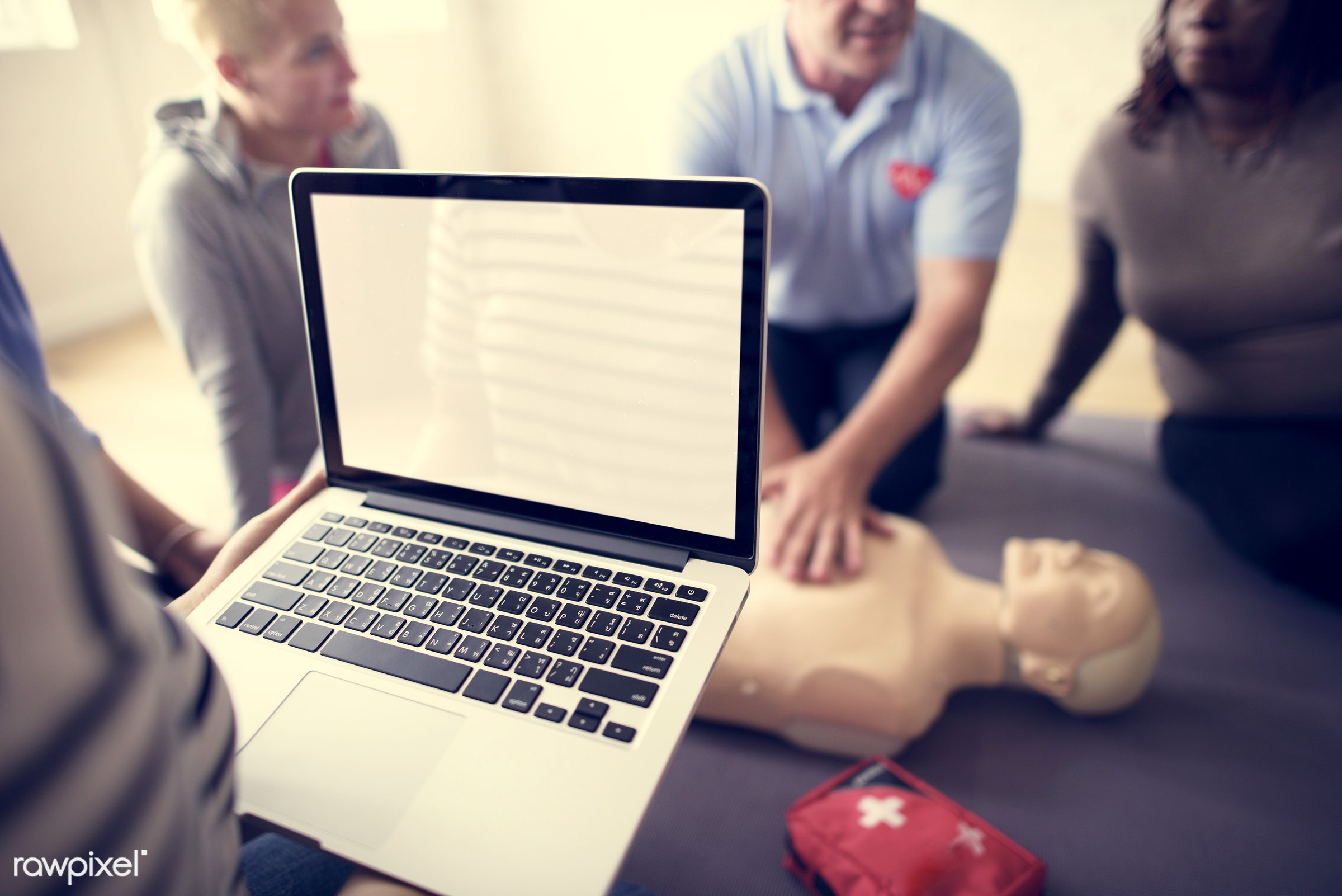 cpr training, person, knowledge, technology, save, first aid, treatment, resuscitation, emergency, indoors, aid, people,...