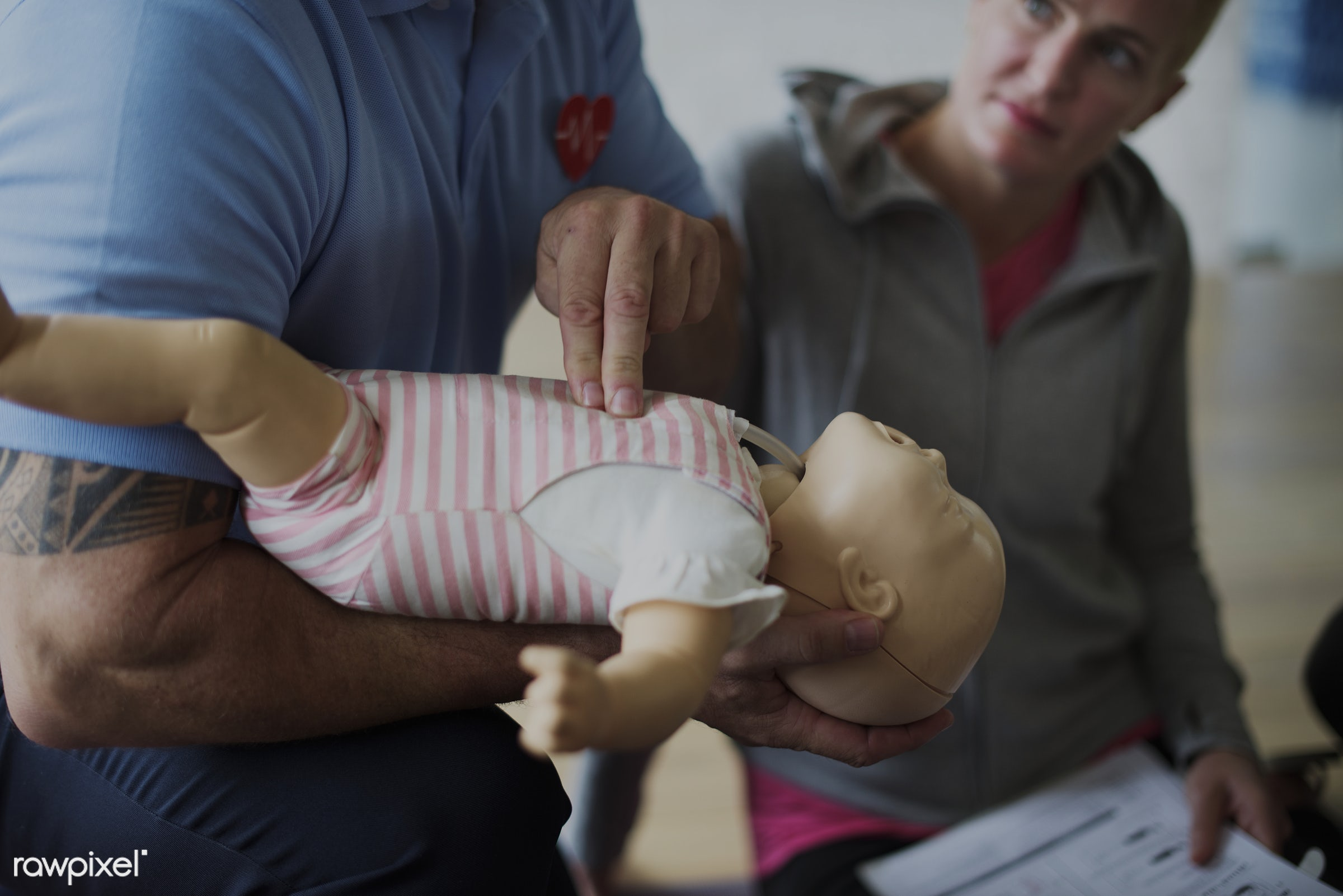 Baby CPR first aid training - cpr training, person, knowledge, save, first aid, treatment, resuscitation, emergency, indoors...