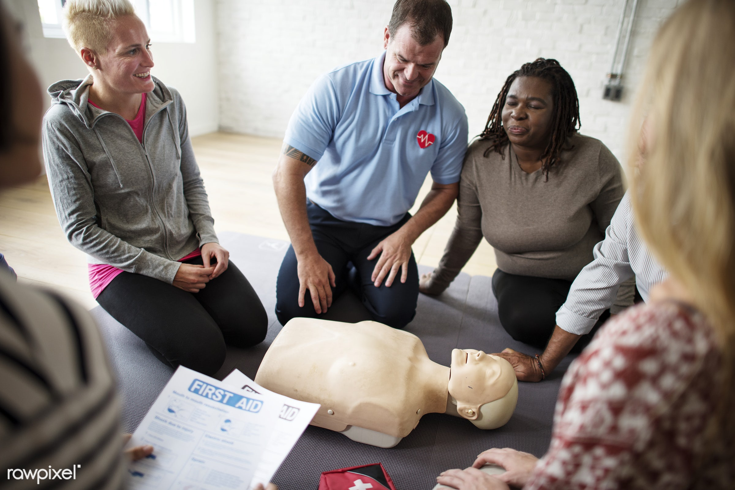 C - cpr training, person, knowledge, save, first aid, treatment, resuscitation, emergency, indoors, aid, people, emergency...