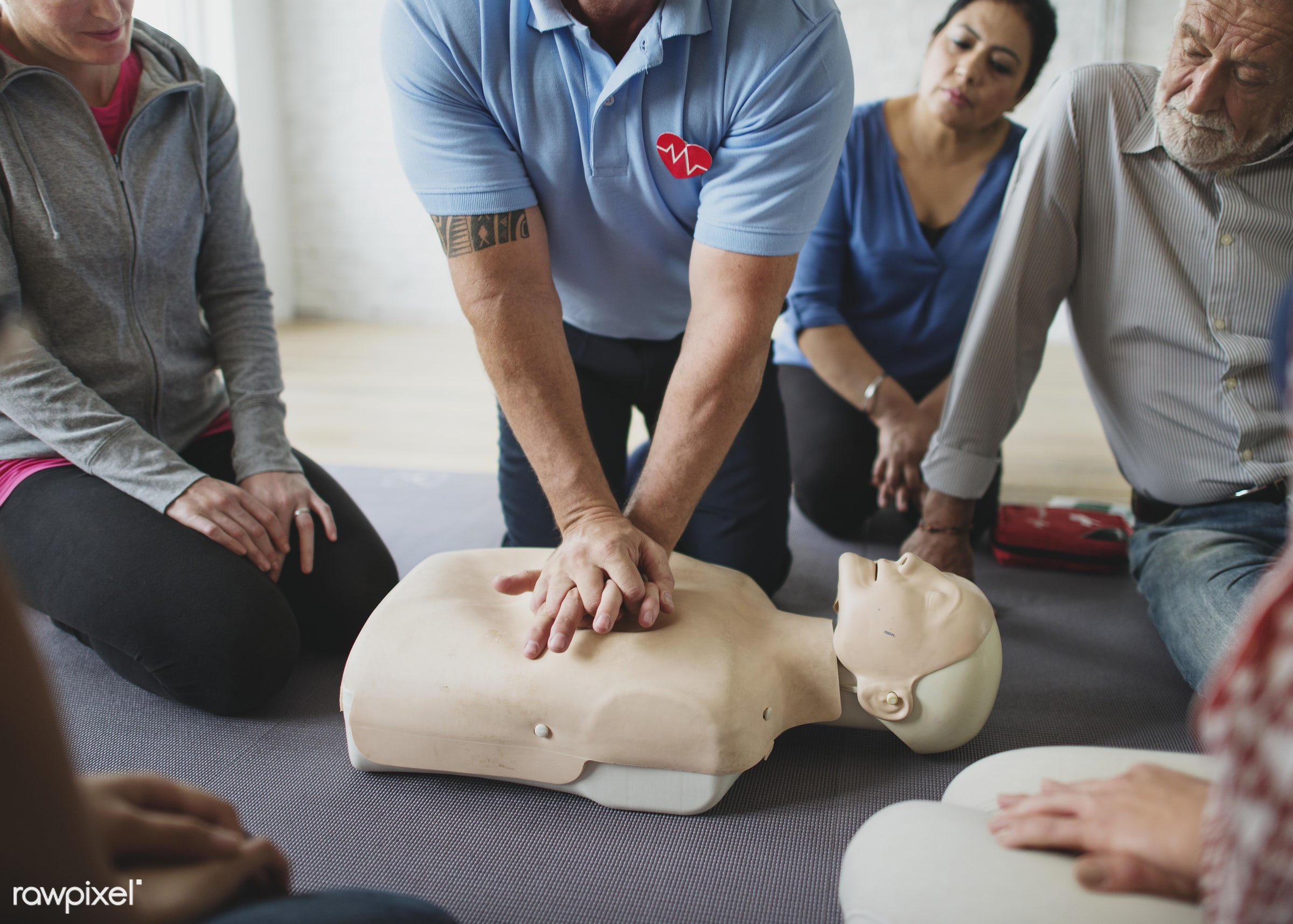 CPR first aid training class - cpr training, person, knowledge, save, first aid, resuscitation, treatment, emergency,...