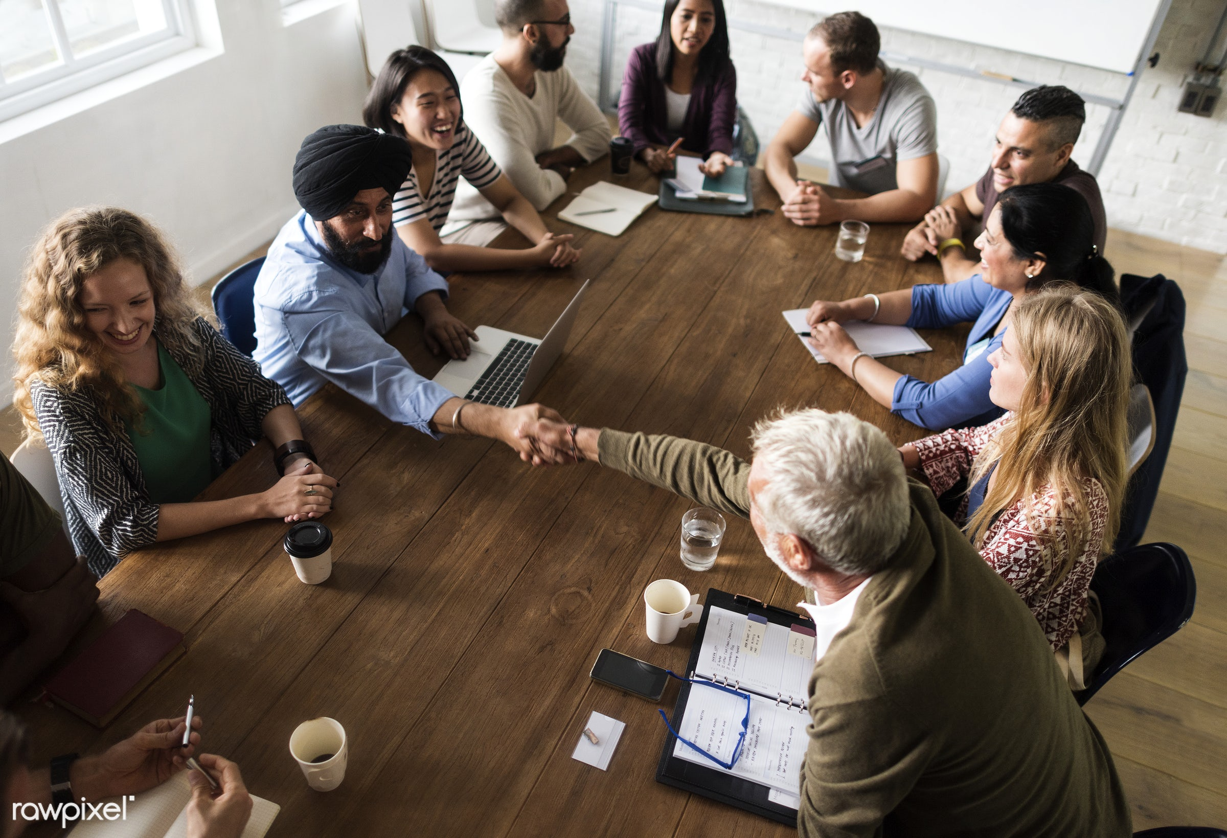Diverse group of people in a seminar - person, collaboration, chairs, indian ethnicity, people, together, caucasian, help,...