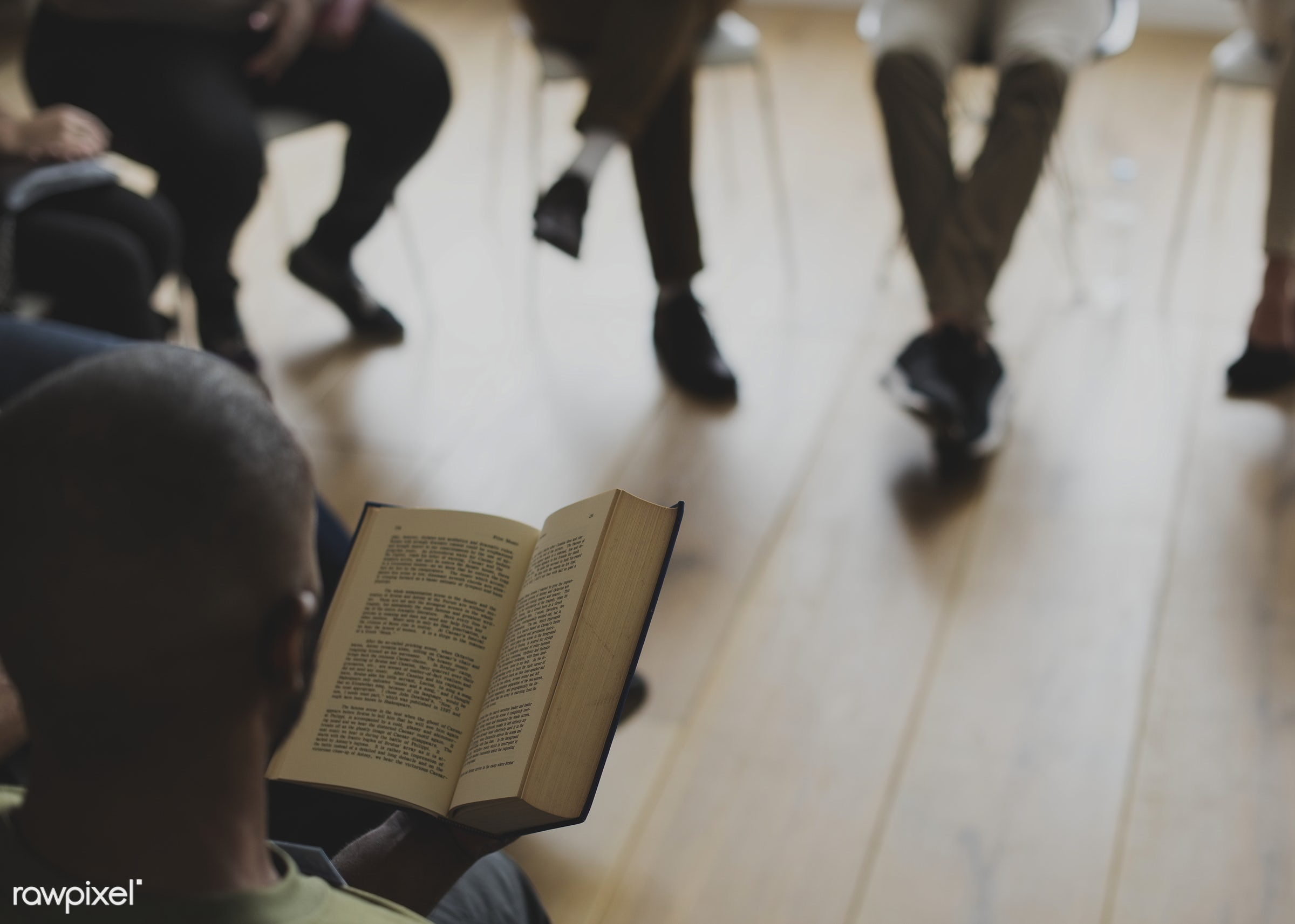 Bible study group - reading, diverse, circle, bonding, people, together, share, teamwork, help, sharing, friends, social,...