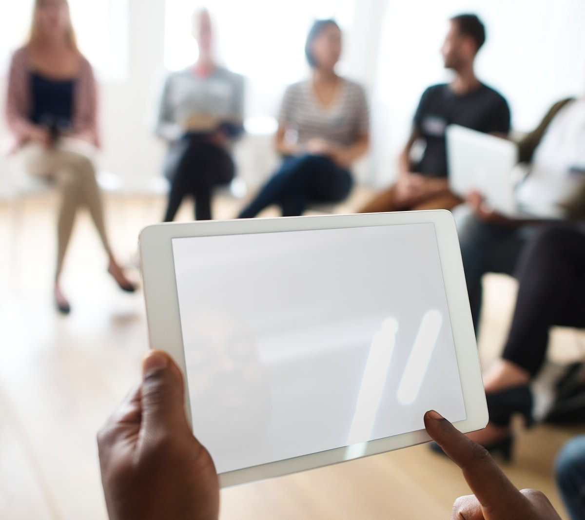 Tablet Networking Seminar Event Concept