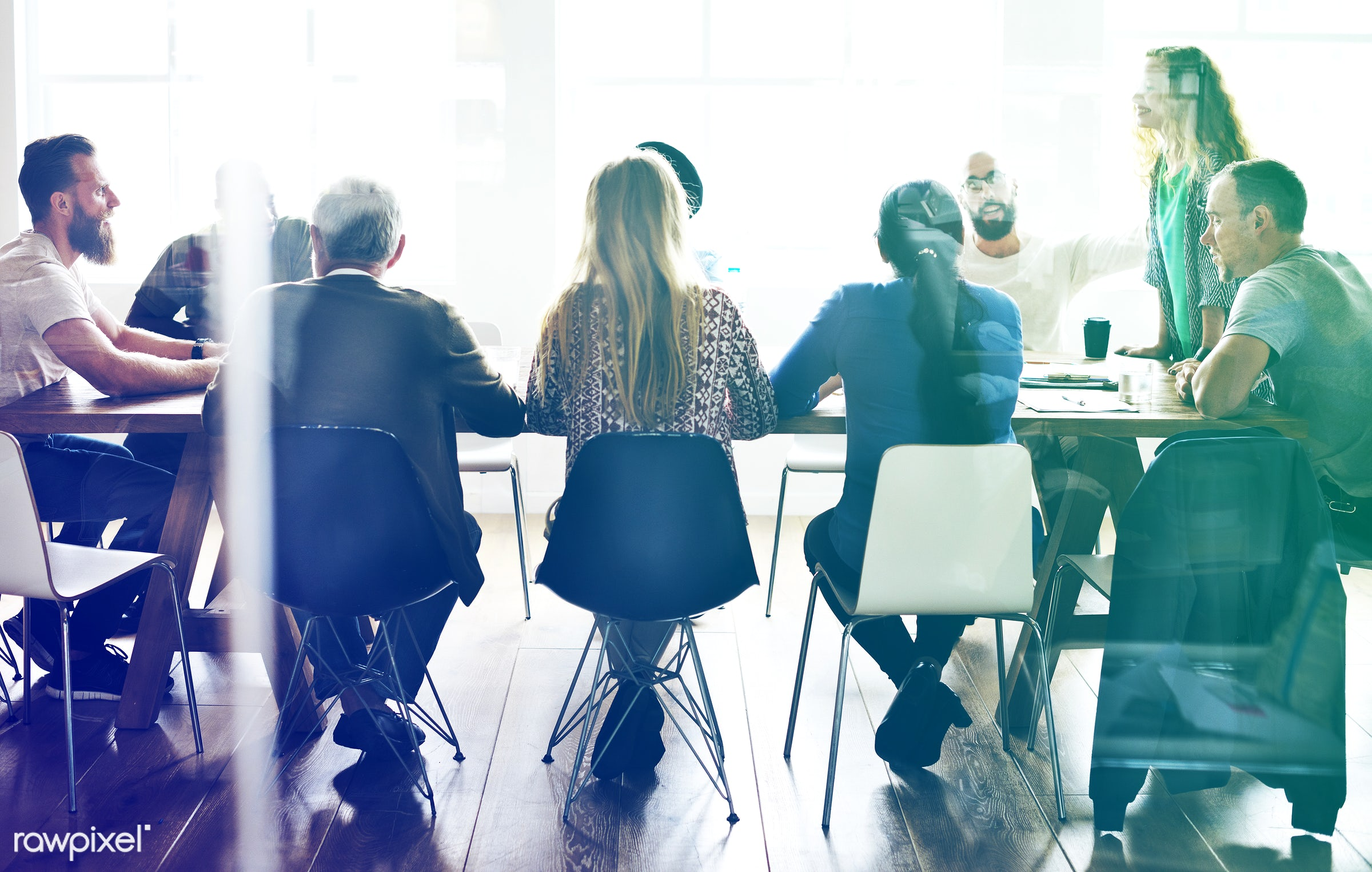 discussion, chairs, desks, people, together, business, casual clothing, teamwork, businesswomen, social, event, cooperation...