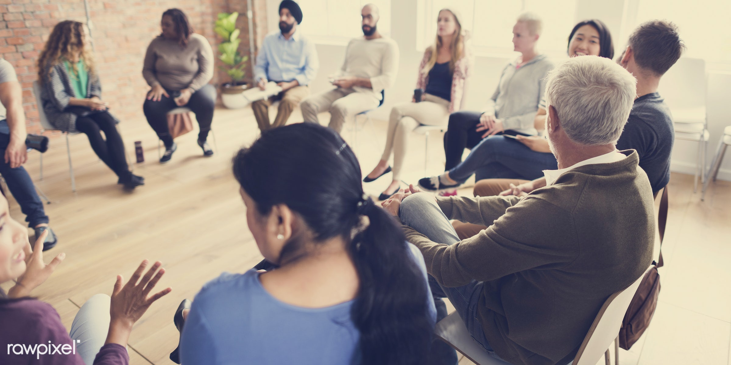 person, discussion, people, together, teamwork, help, communicate, social, event, woman, social events, connection, support...