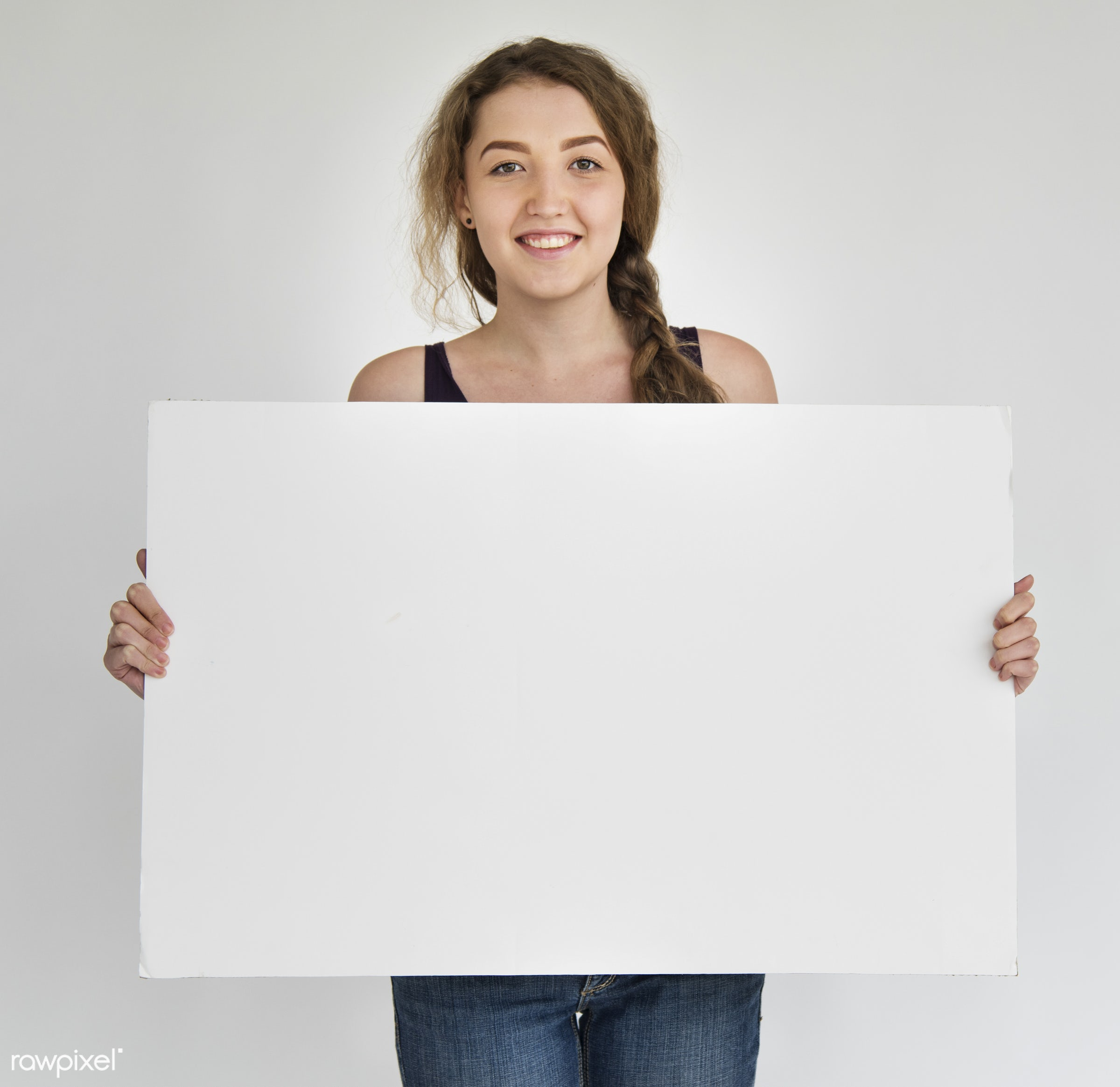 background, banner, billboard, blank, board, canvas, casual, cheerful, concept, copy space, cute, empty, enjoyment, female,...