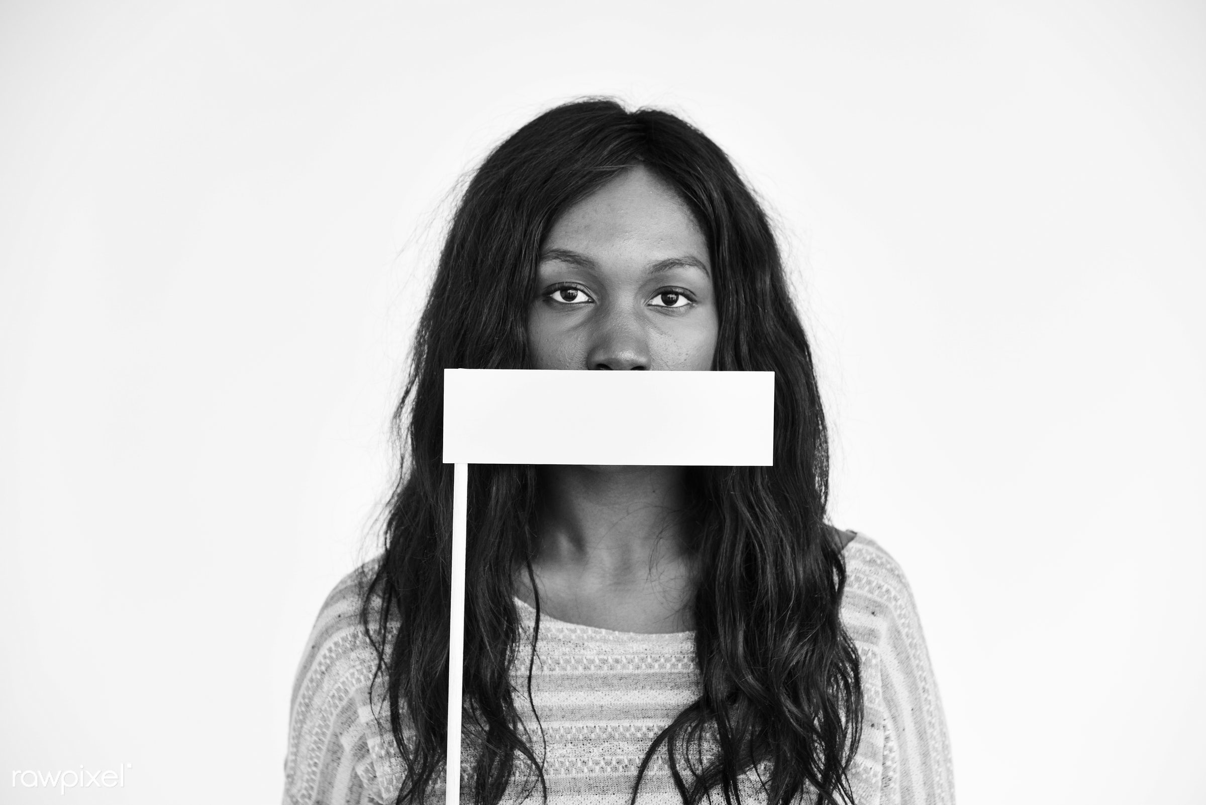 expression, person, mystery, holding, covering, woman, lifestyle, deaf, black, mute, gesticulation, isolated, african...