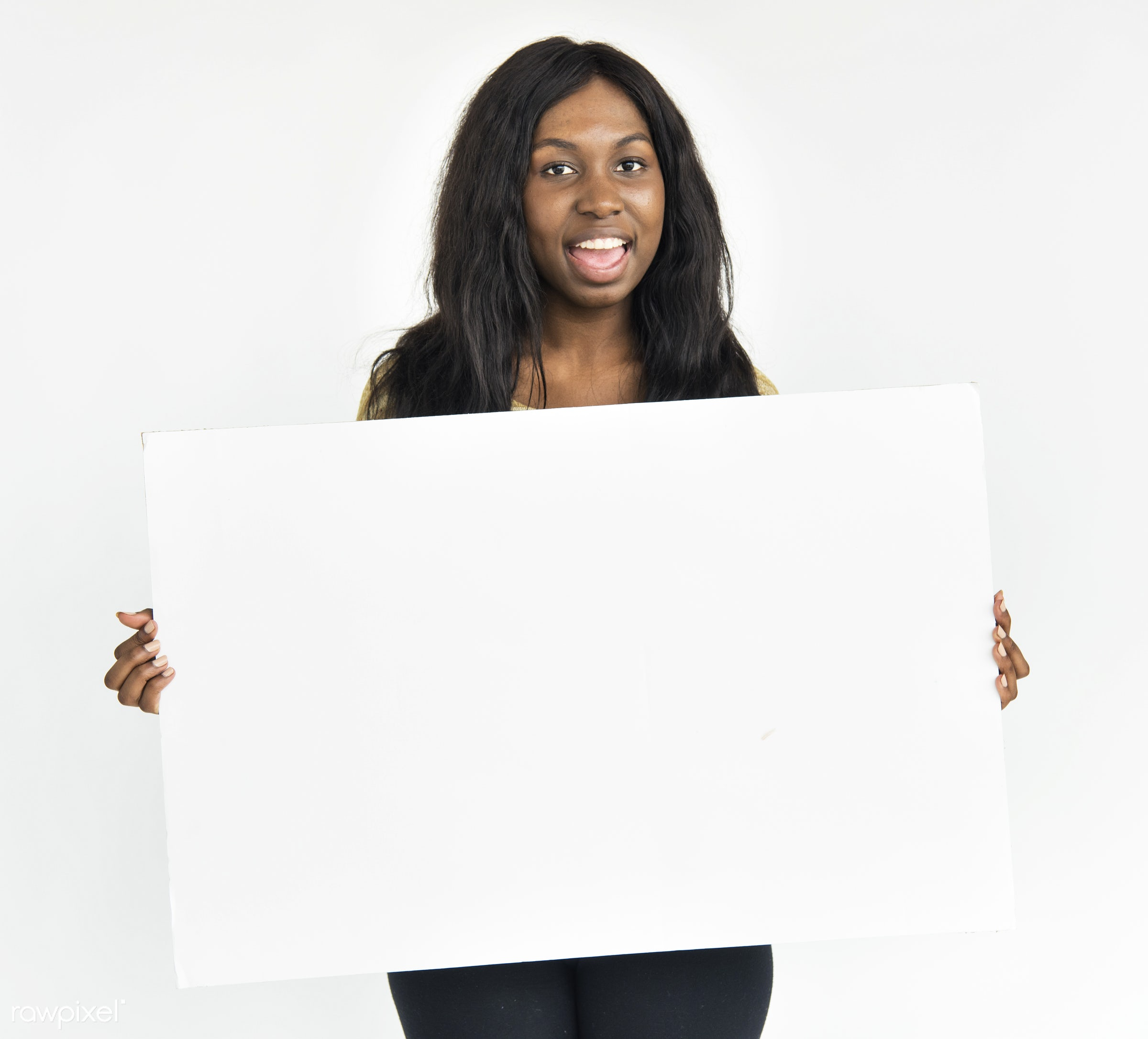 adult, african descent, background, banner, billboard, black, blank, board, canvas, casual, cheerful, concept, copy space,...