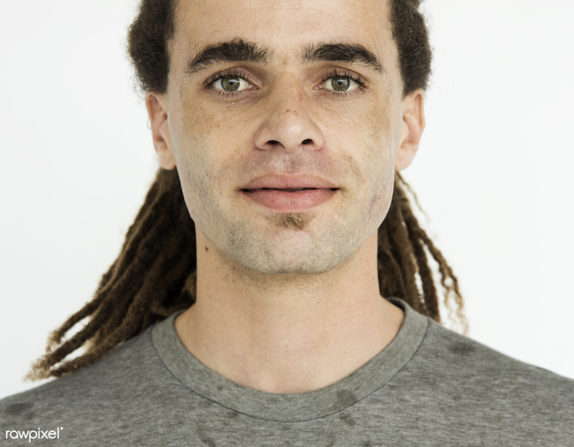 studio, expression, face, people, caucasian, solo, casual, serious, alone, man, isolated, blank, dreadlocks, guy, male,...