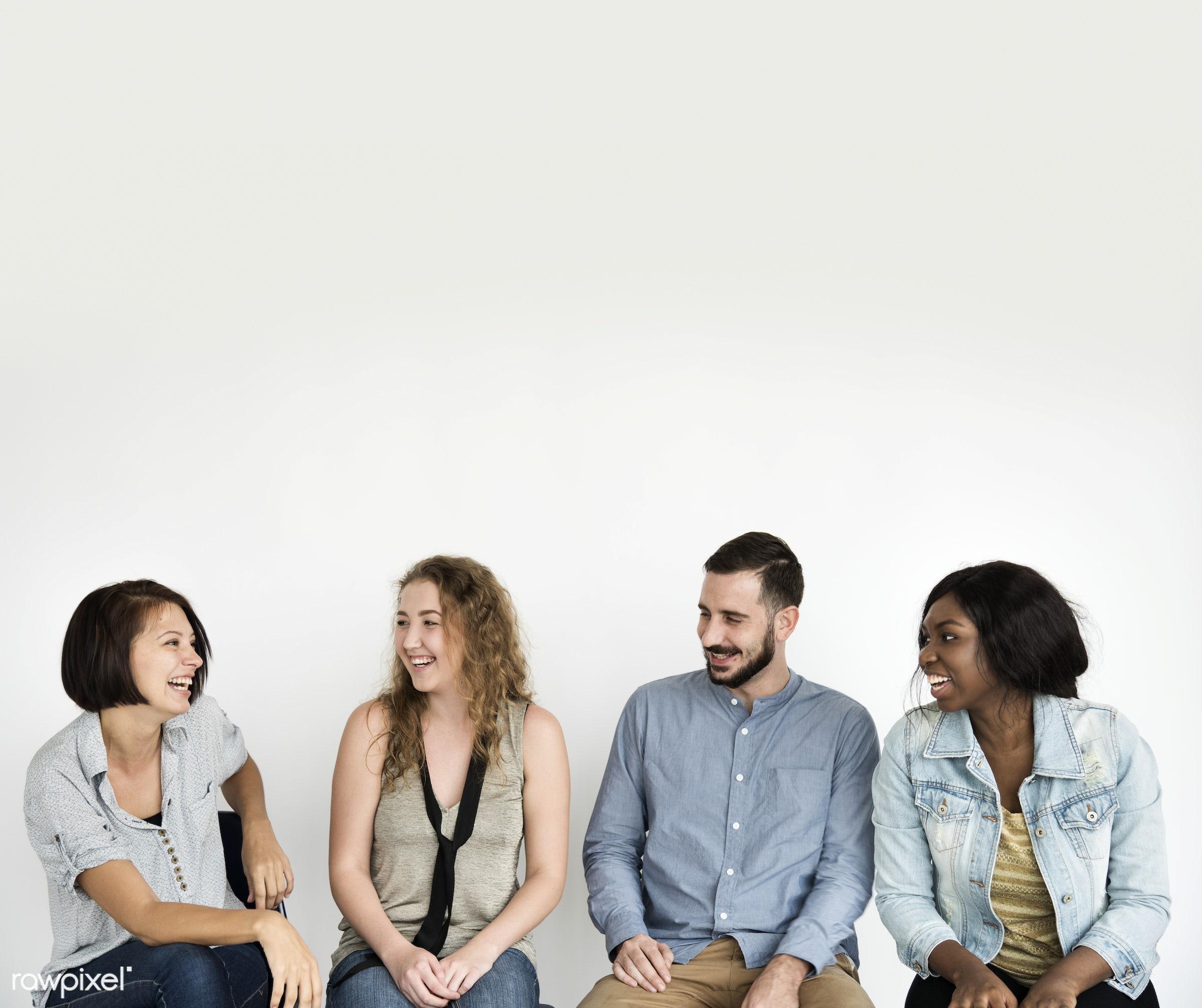 studio, discussion, diverse, socialize, people, caucasian, friends, girl, socializing, woman, casual, friendship,...