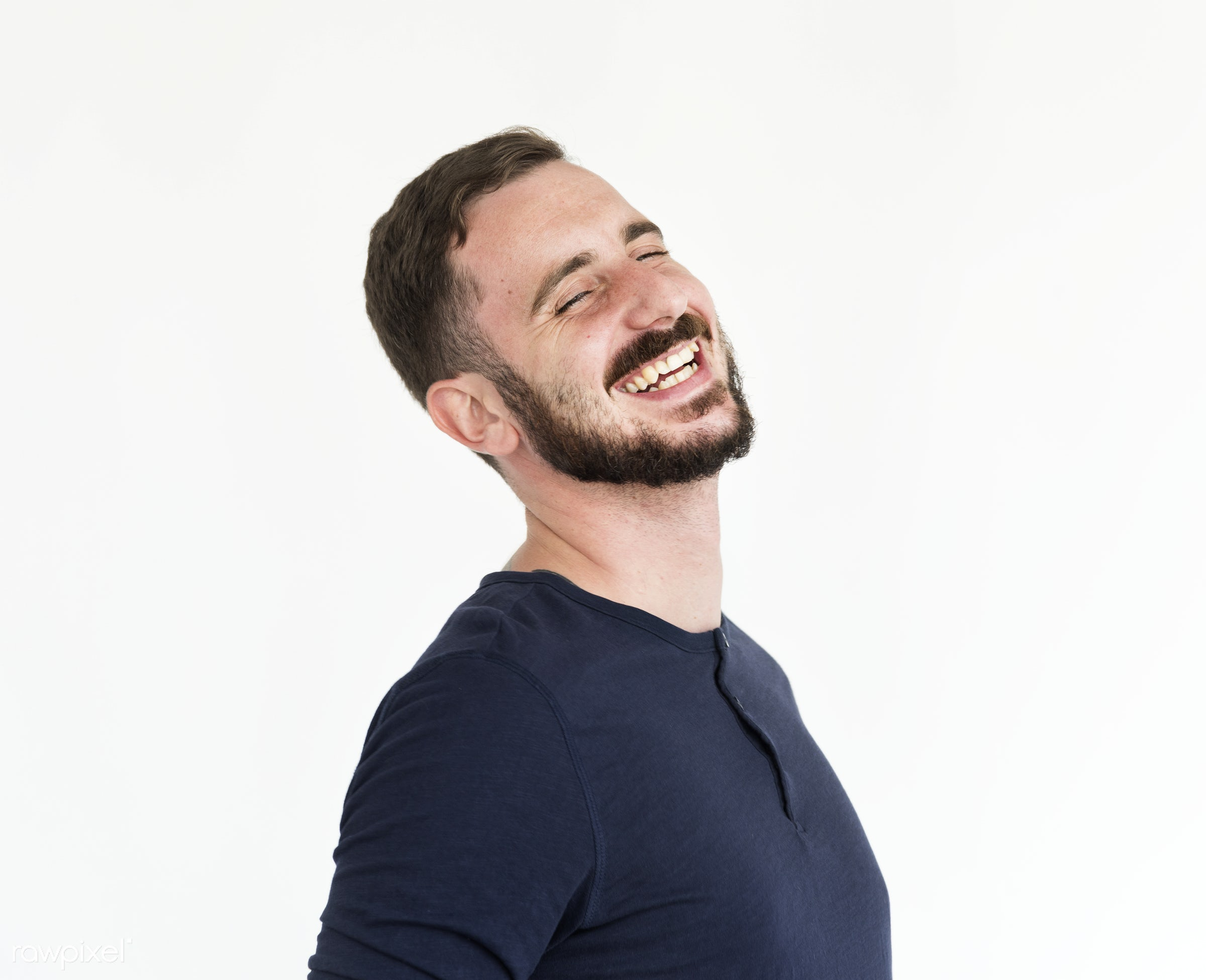 adult, alone, background, beard, bearded, casual, caucasian, cheerful, expression, facial, fun, funny, giggle, guy, hair,...