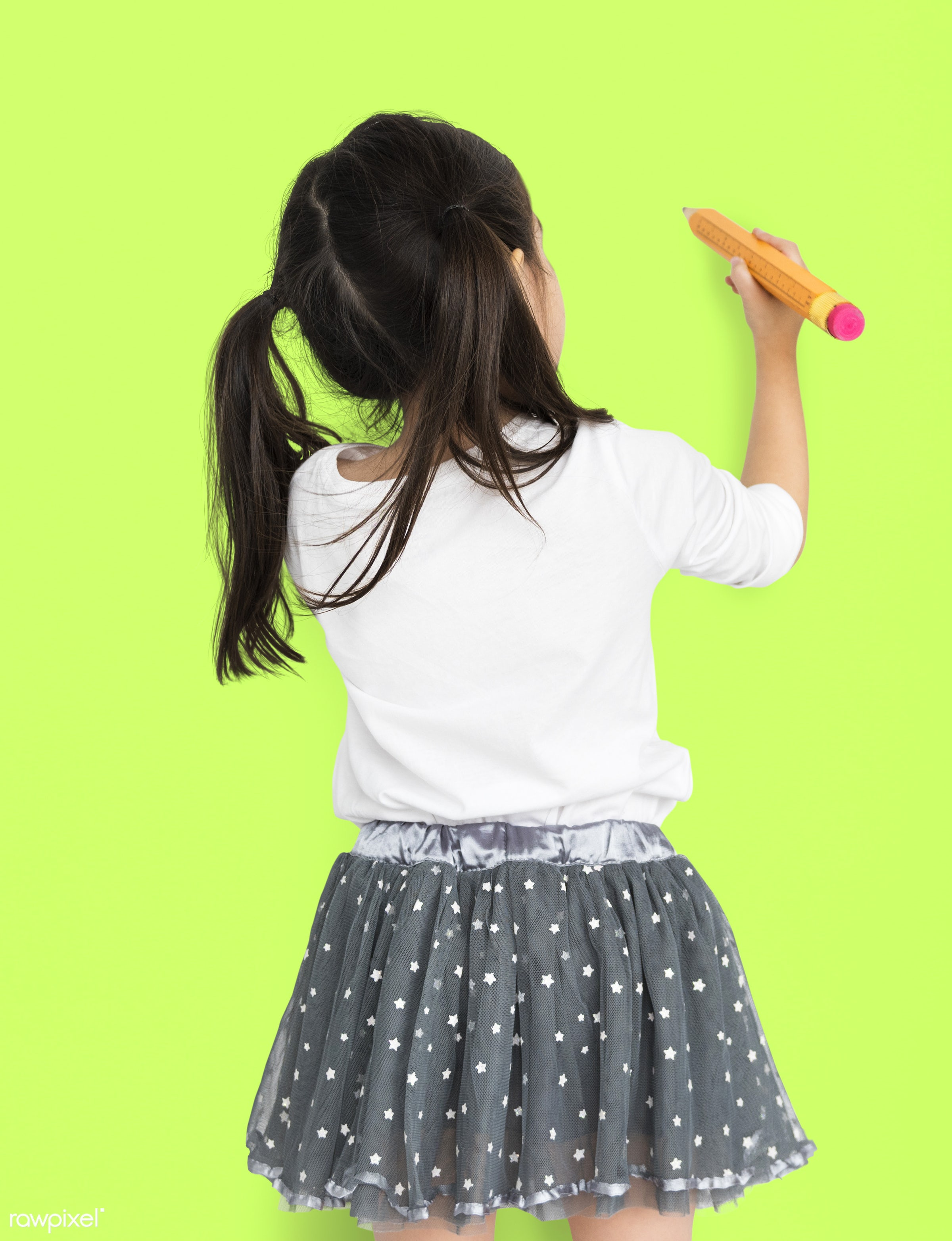 studio, expression, person, little, recreation, people, kid, isolated, little girl, happiness, paint, leisure, fun, shoot,...