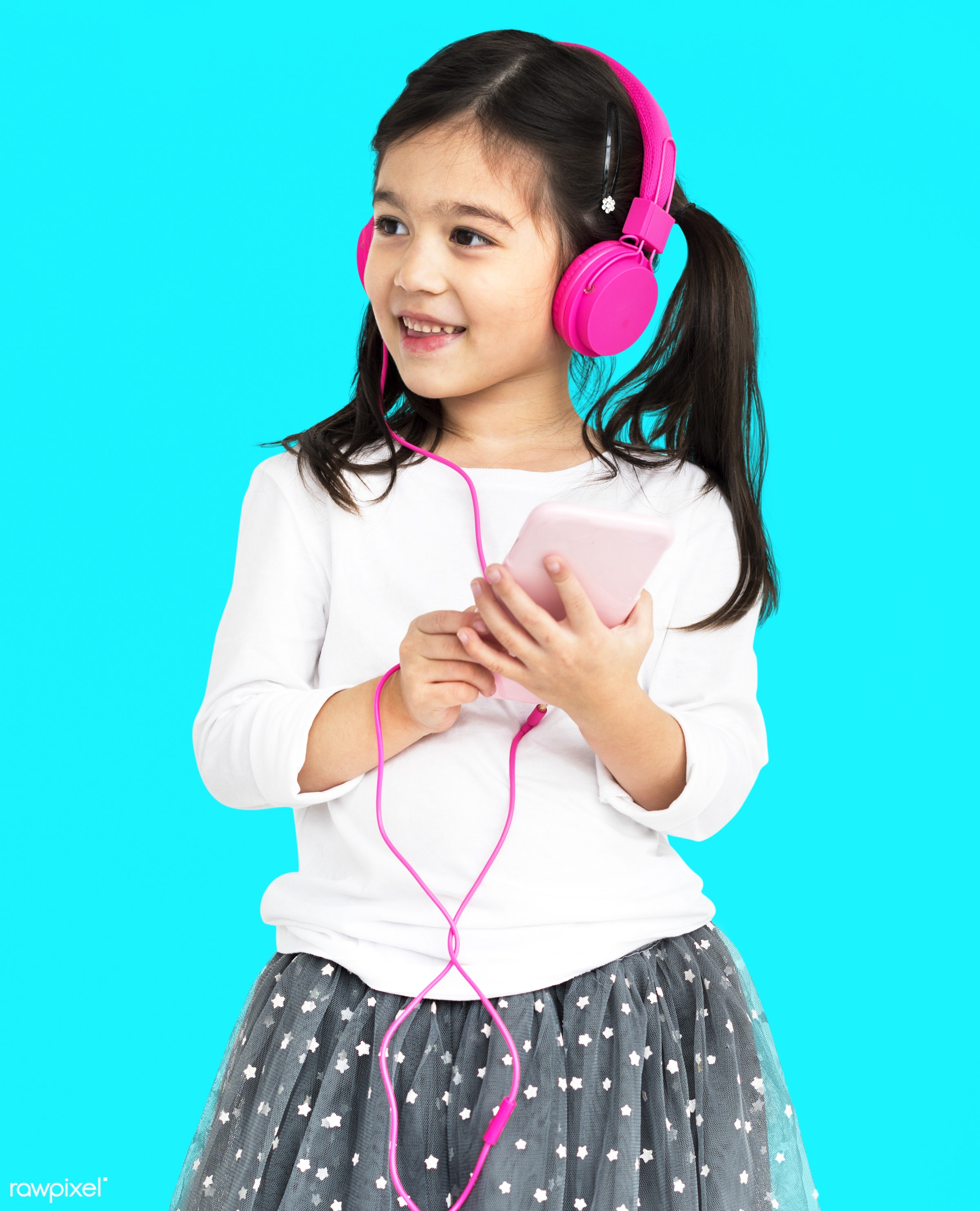 studio, expression, using, person, technology, little, recreation, people, kid, childhood, smart phone, cheerful, smiling,...
