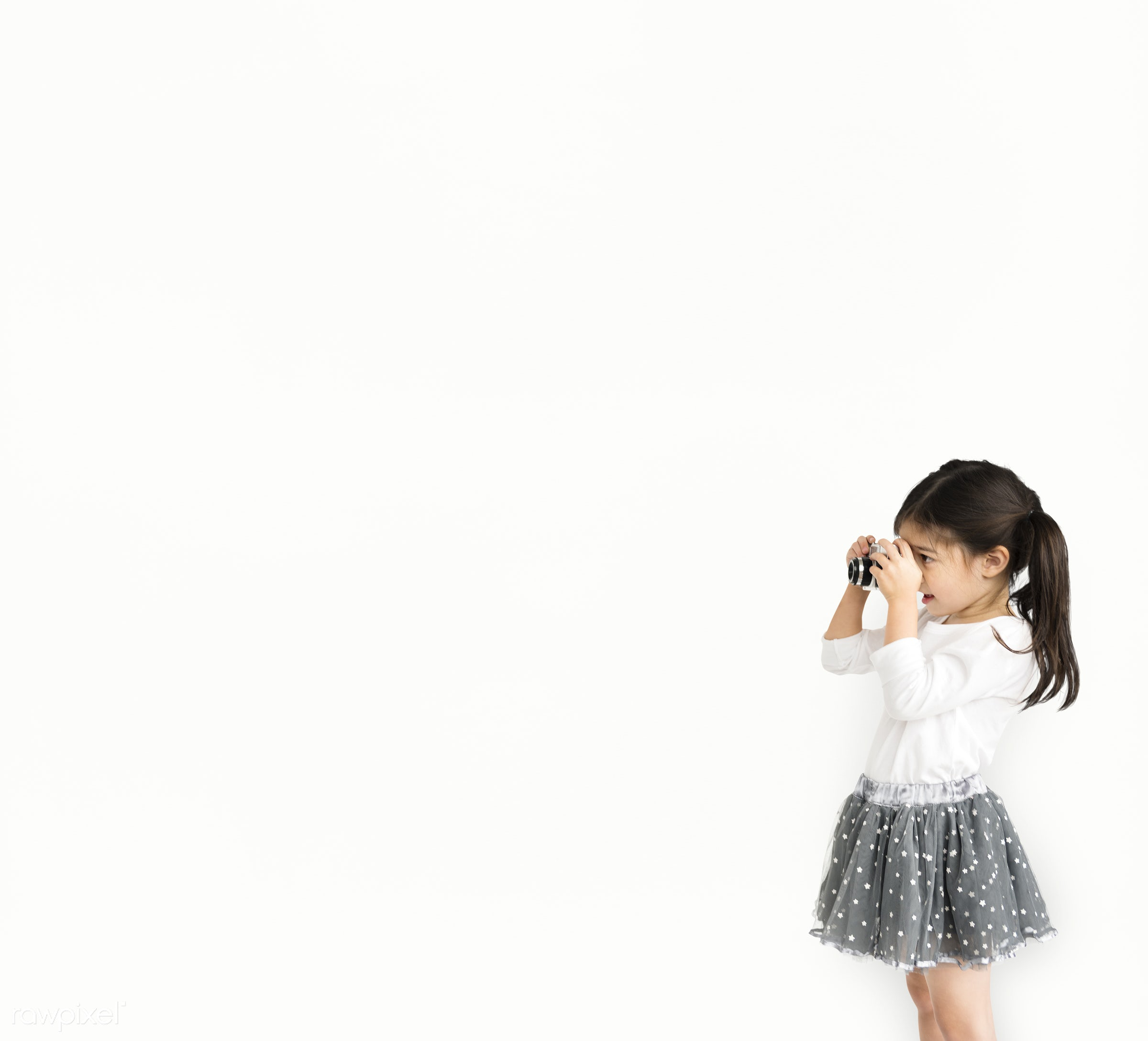 expression, studio, person, isolated on white, cute, people, pretty, drawing, child, girl, happy, casual, childhood,...