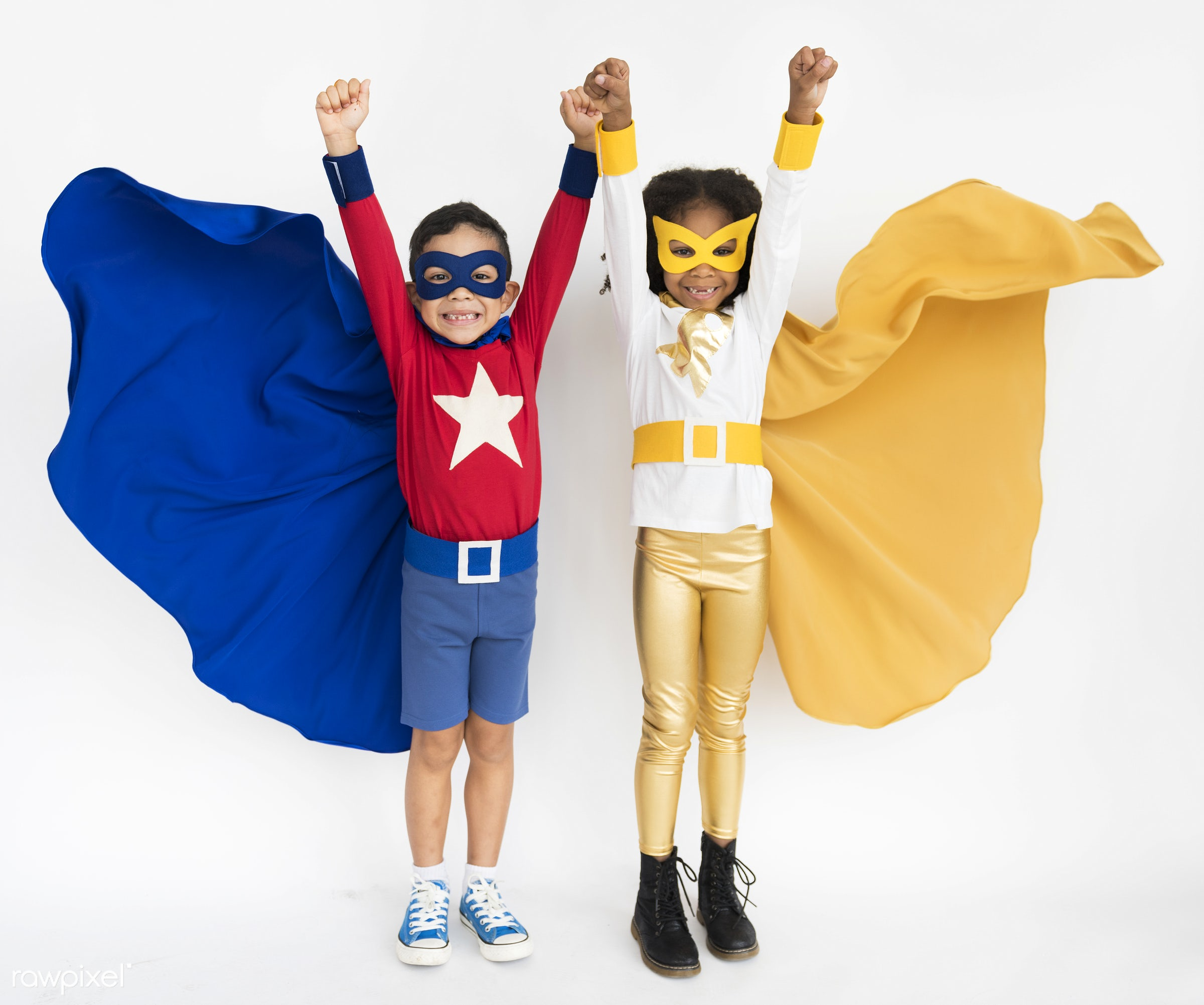 expression, studio, person, mask, cute, people, pretty, child, girl, happy, casual, childhood, cheerful, smiling, superhero...