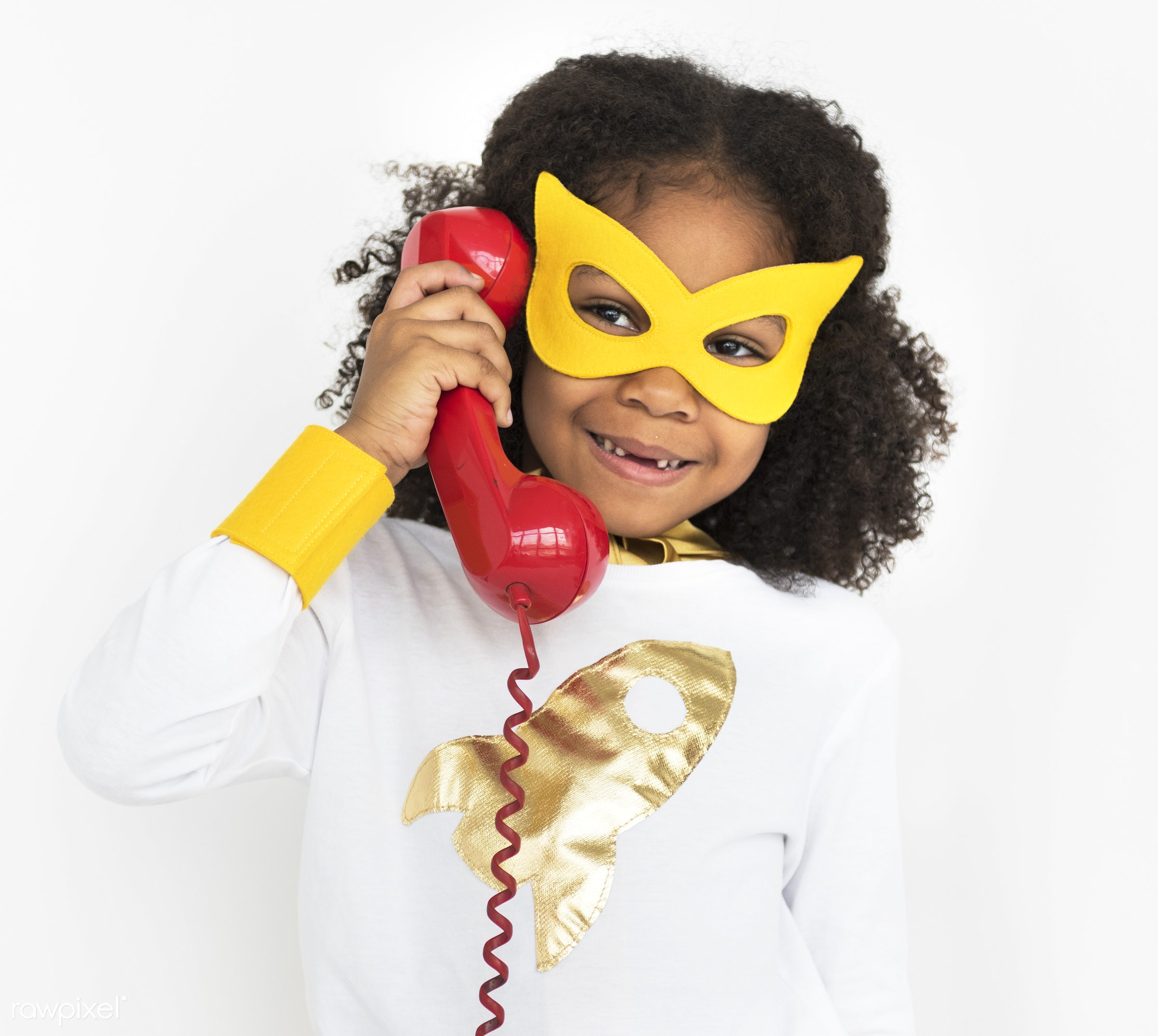 studio, expression, person, mask, cute, pretty, people, child, girl, happy, casual, childhood, cheerful, smiling, superhero...