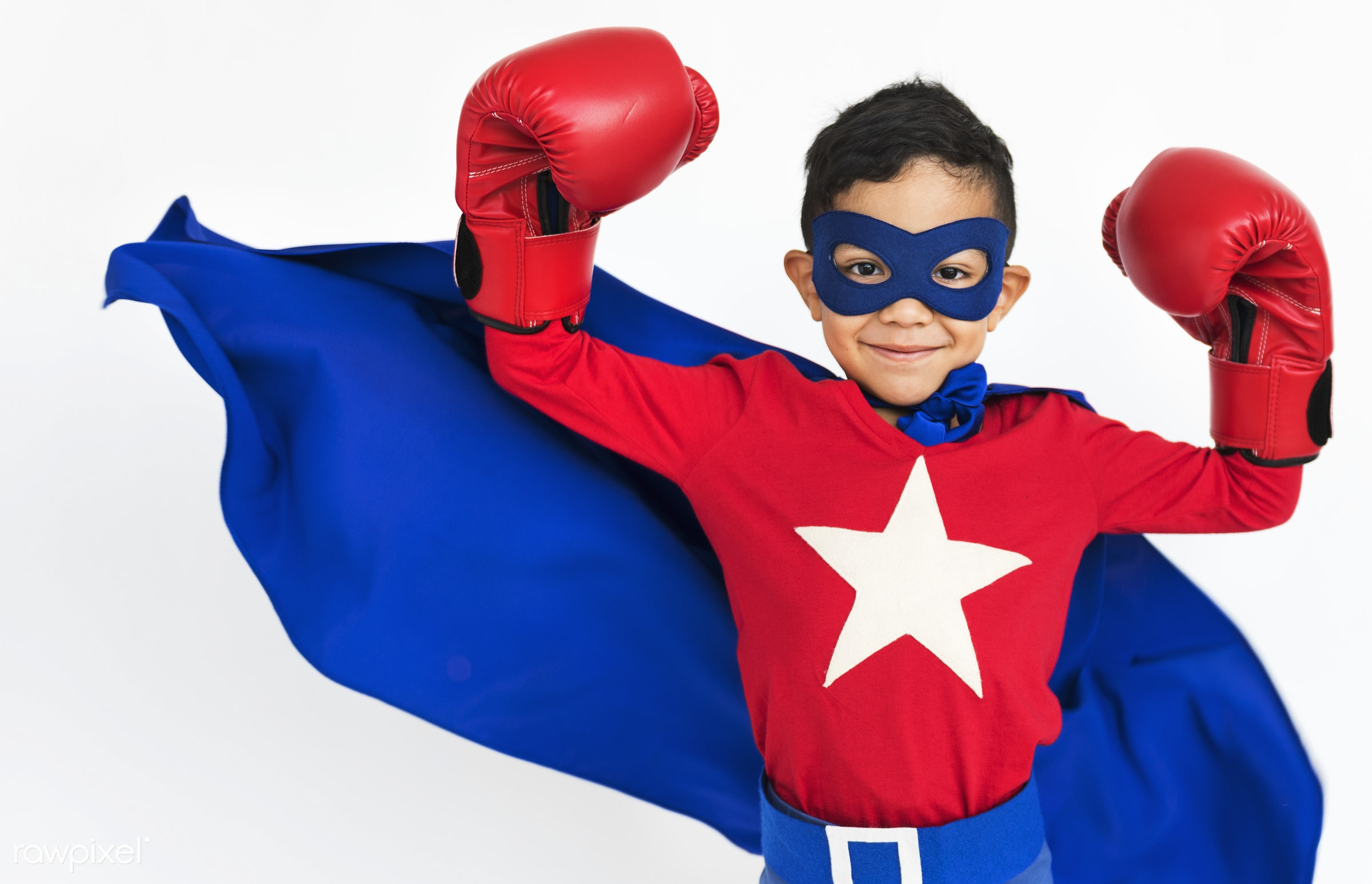 Young kids studio shoot - boy, child, expression, fun, gesture, isolated, isolated on white, kid, playful, studio, superhero...