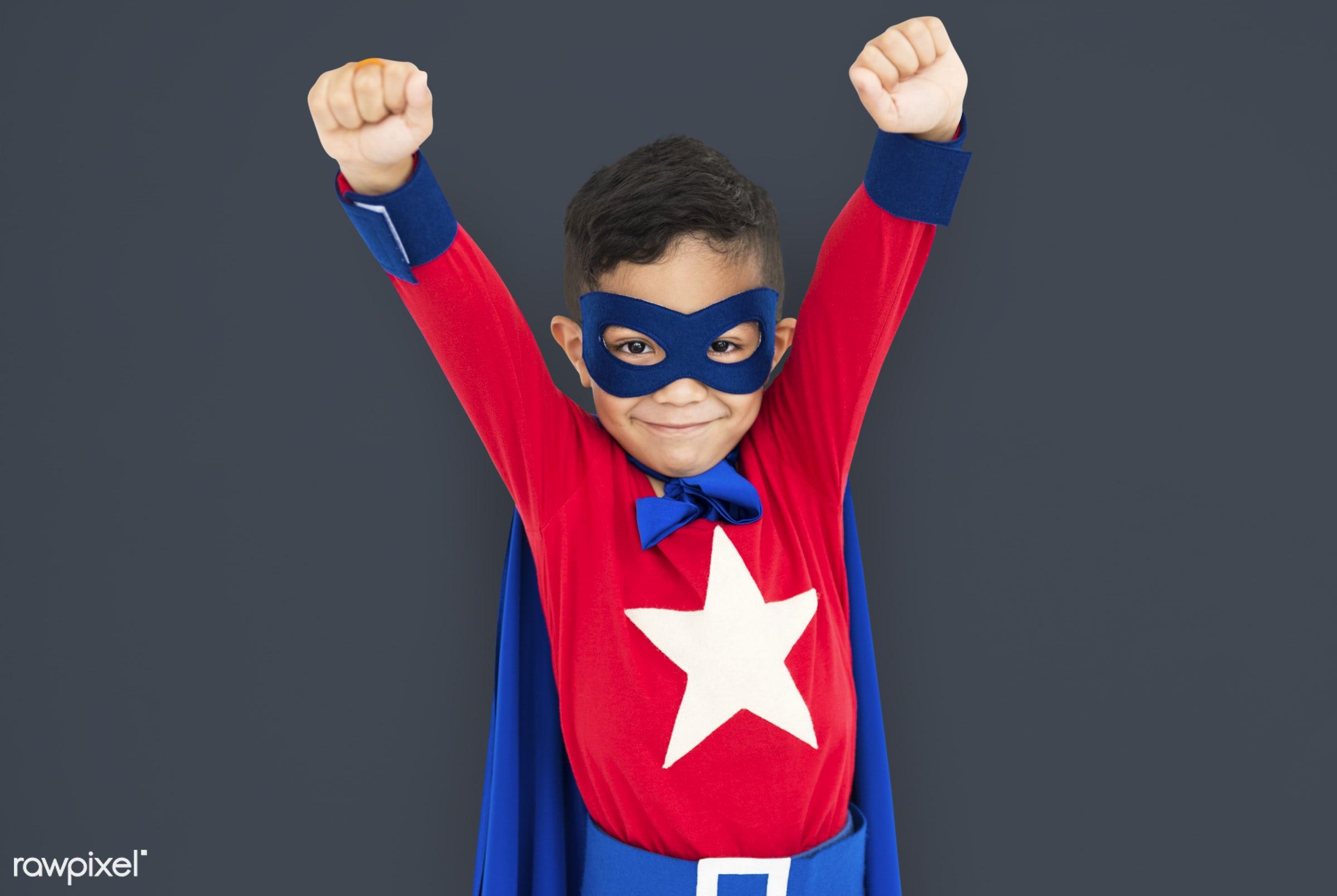 children, courageous, adolescence, kid, child, inspiration, leader, idol, childhood, superhero, isolated, hero, capable,...