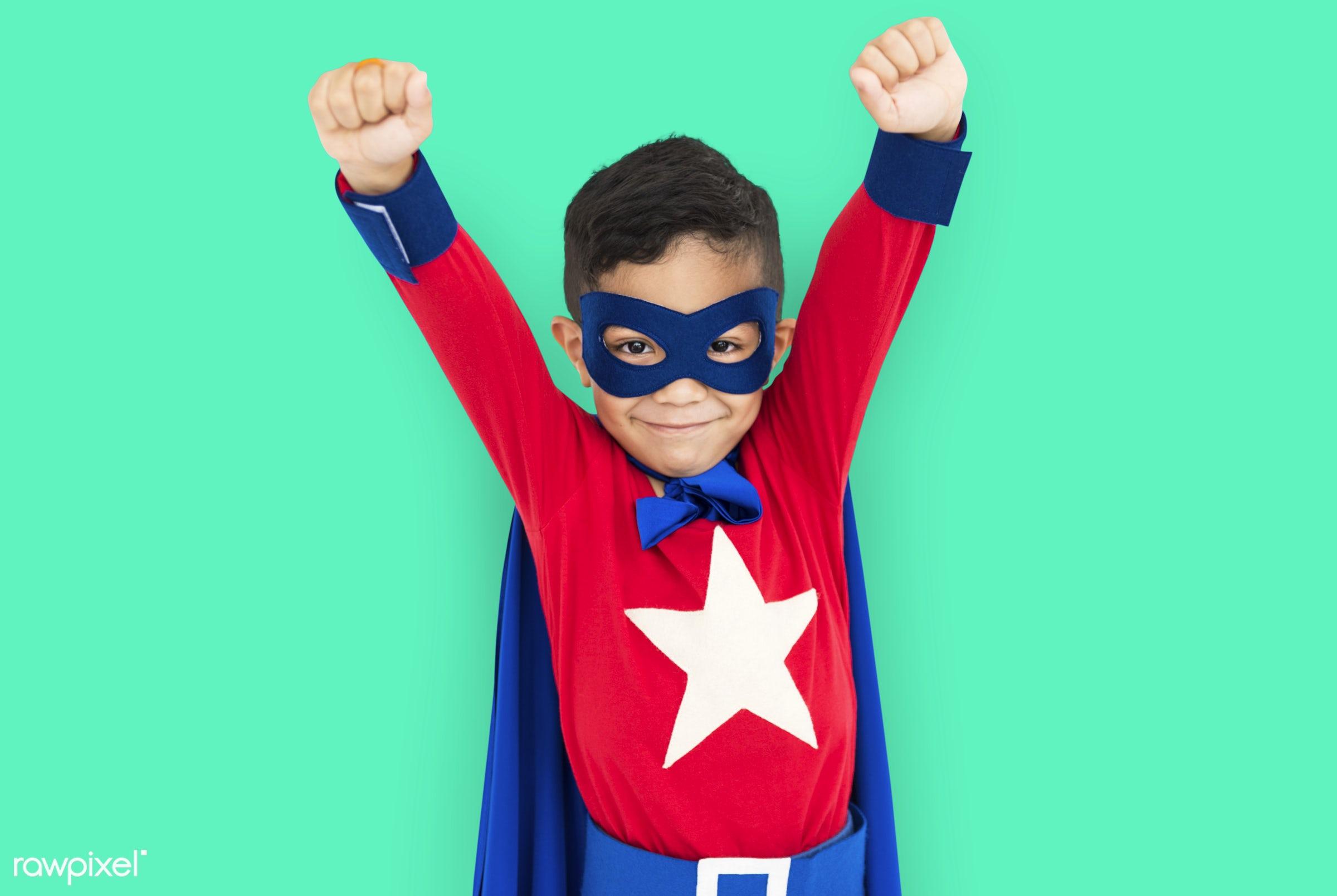 children, courageous, adolescence, kid, child, inspiration, leader, idol, childhood, superhero, isolated, hero, green,...