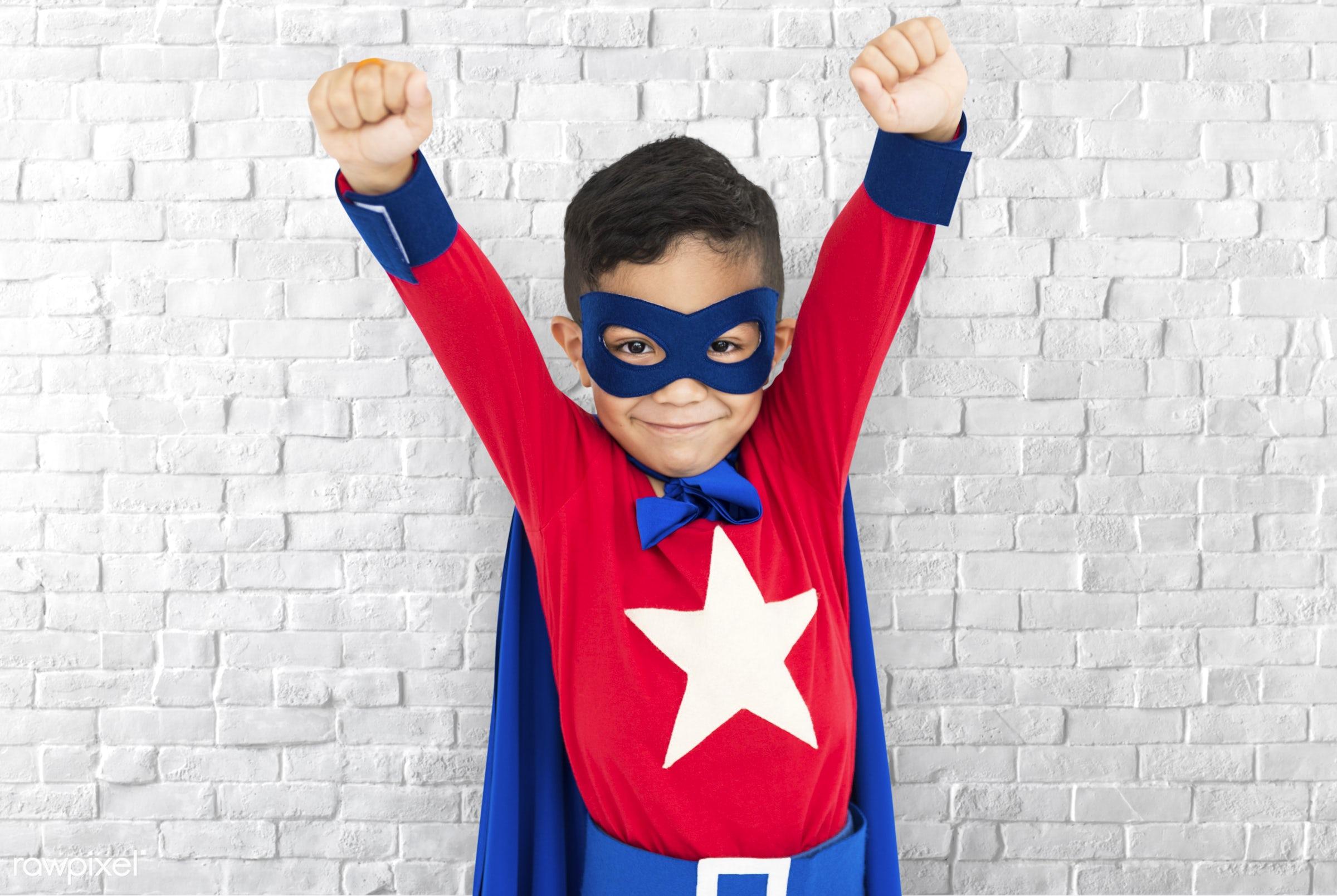brick, children, courageous, adolescence, kid, child, inspiration, leader, idol, childhood, superhero, isolated, hero,...