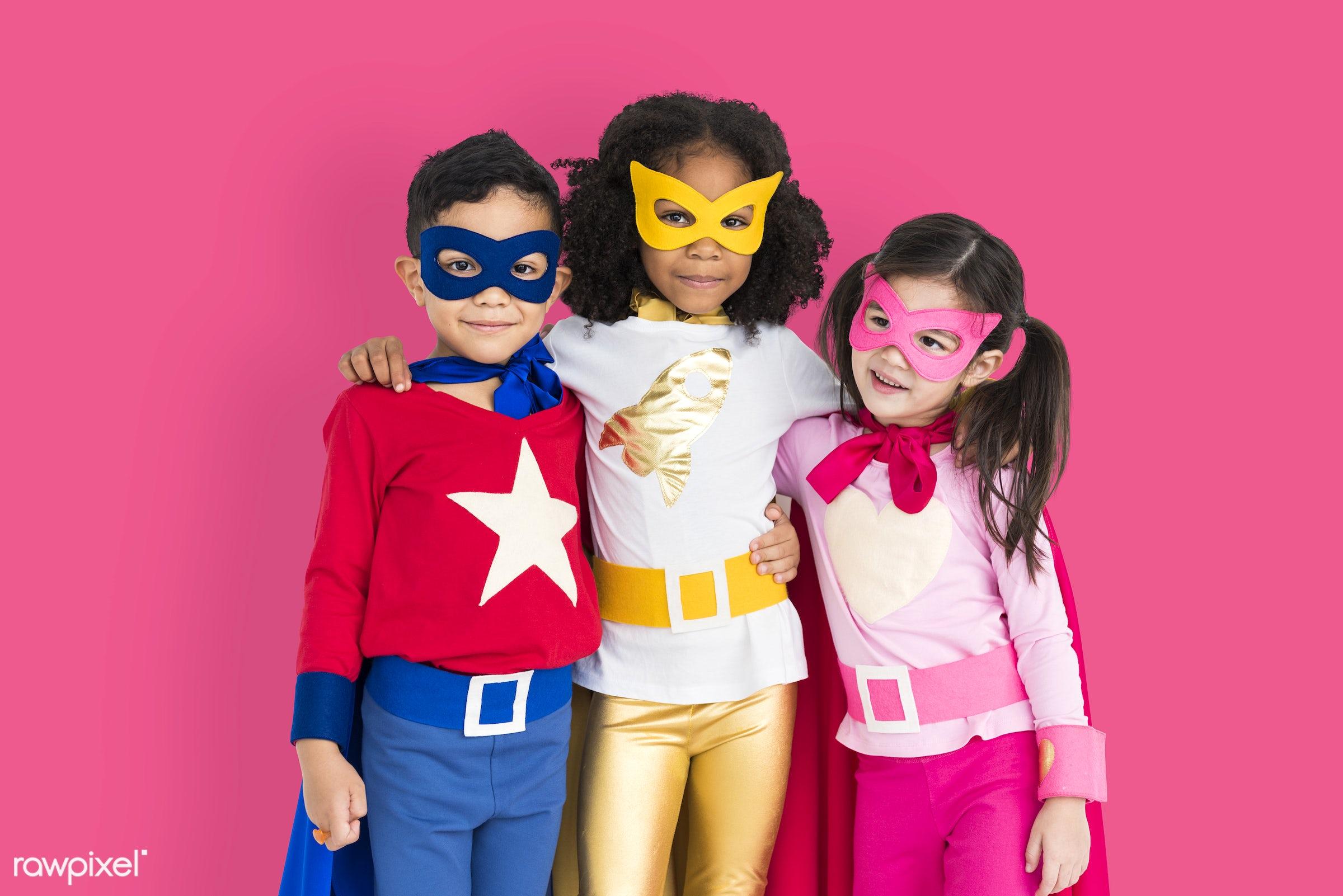 children, courageous, kid, adolescence, child, girl, inspiration, leader, pink, idol, childhood, superhero, isolated, hero,...