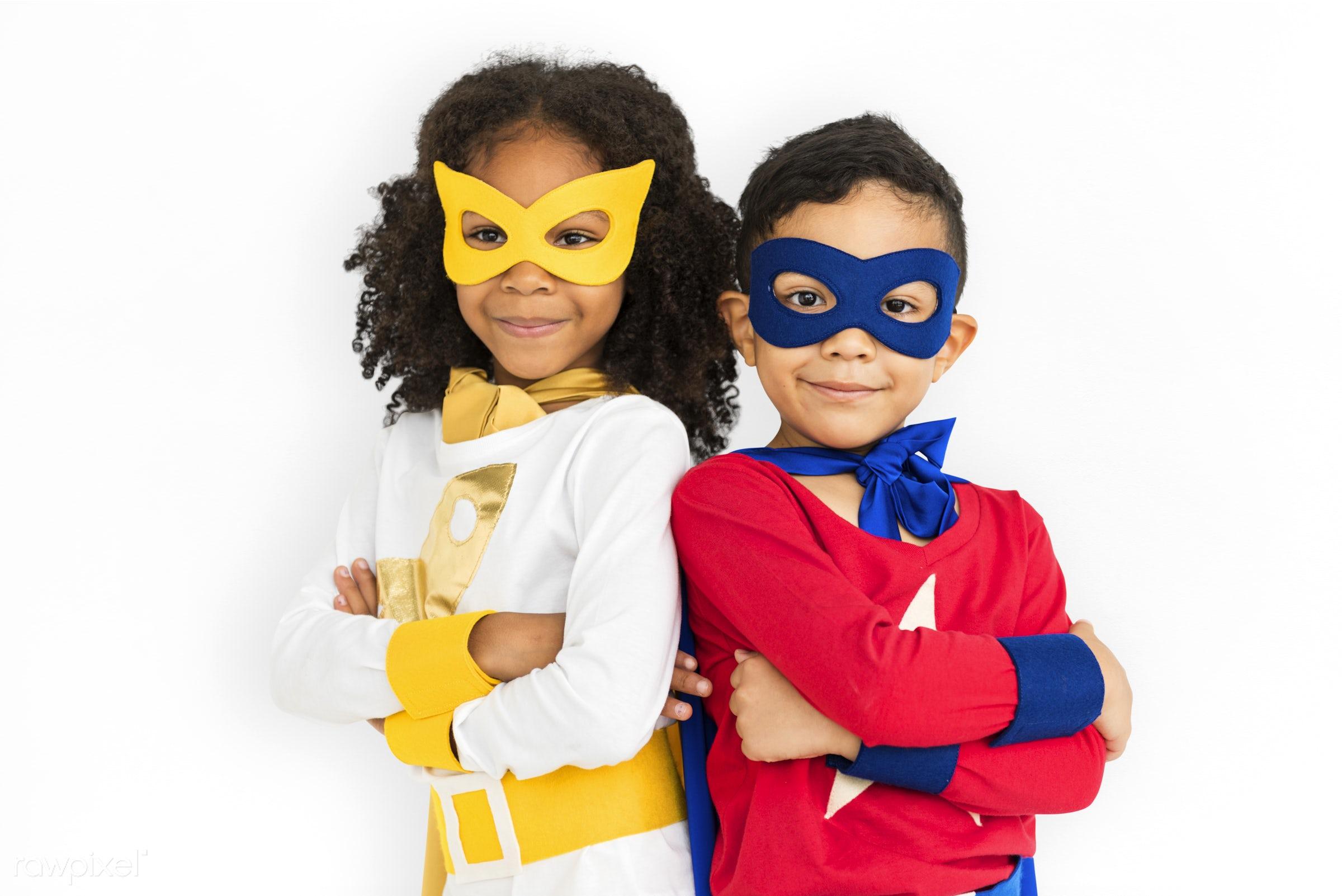children, courageous, kid, adolescence, child, girl, inspiration, leader, idol, childhood, superhero, isolated, hero, white...