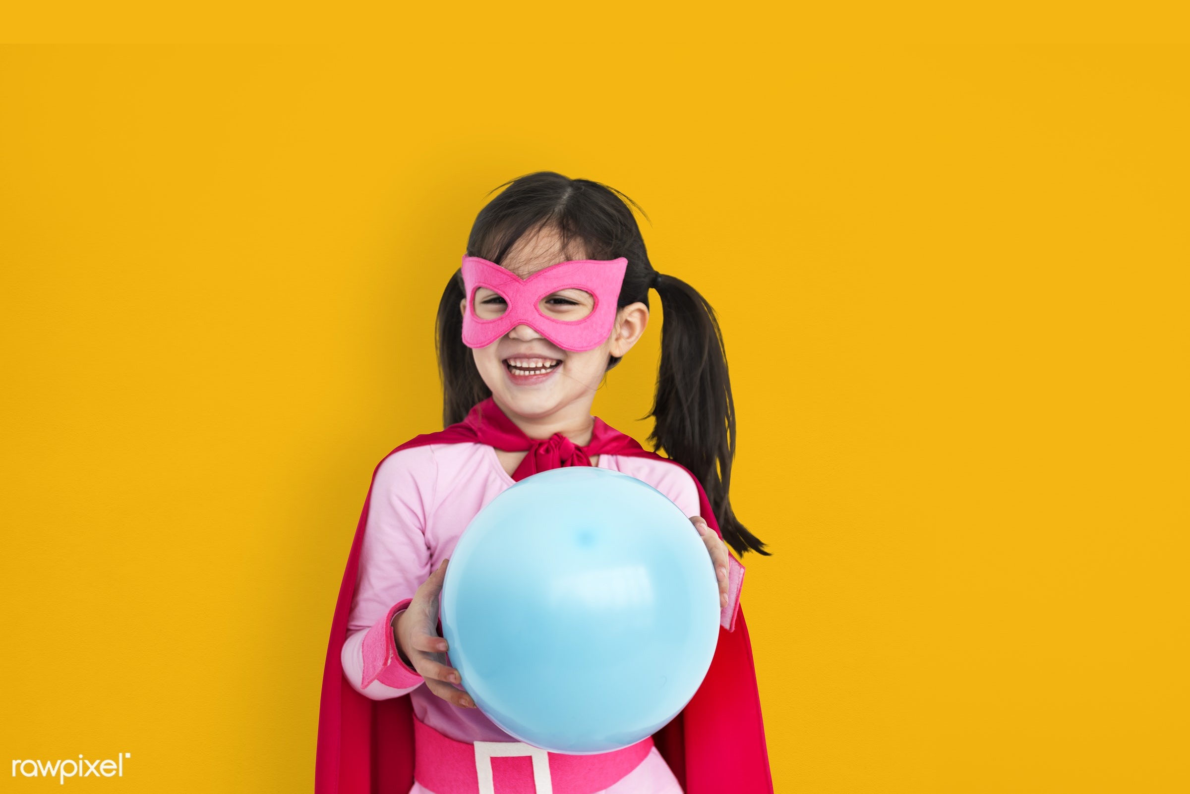 children, courageous, kid, adolescence, child, girl, inspiration, leader, idol, childhood, superhero, orange, isolated, hero...