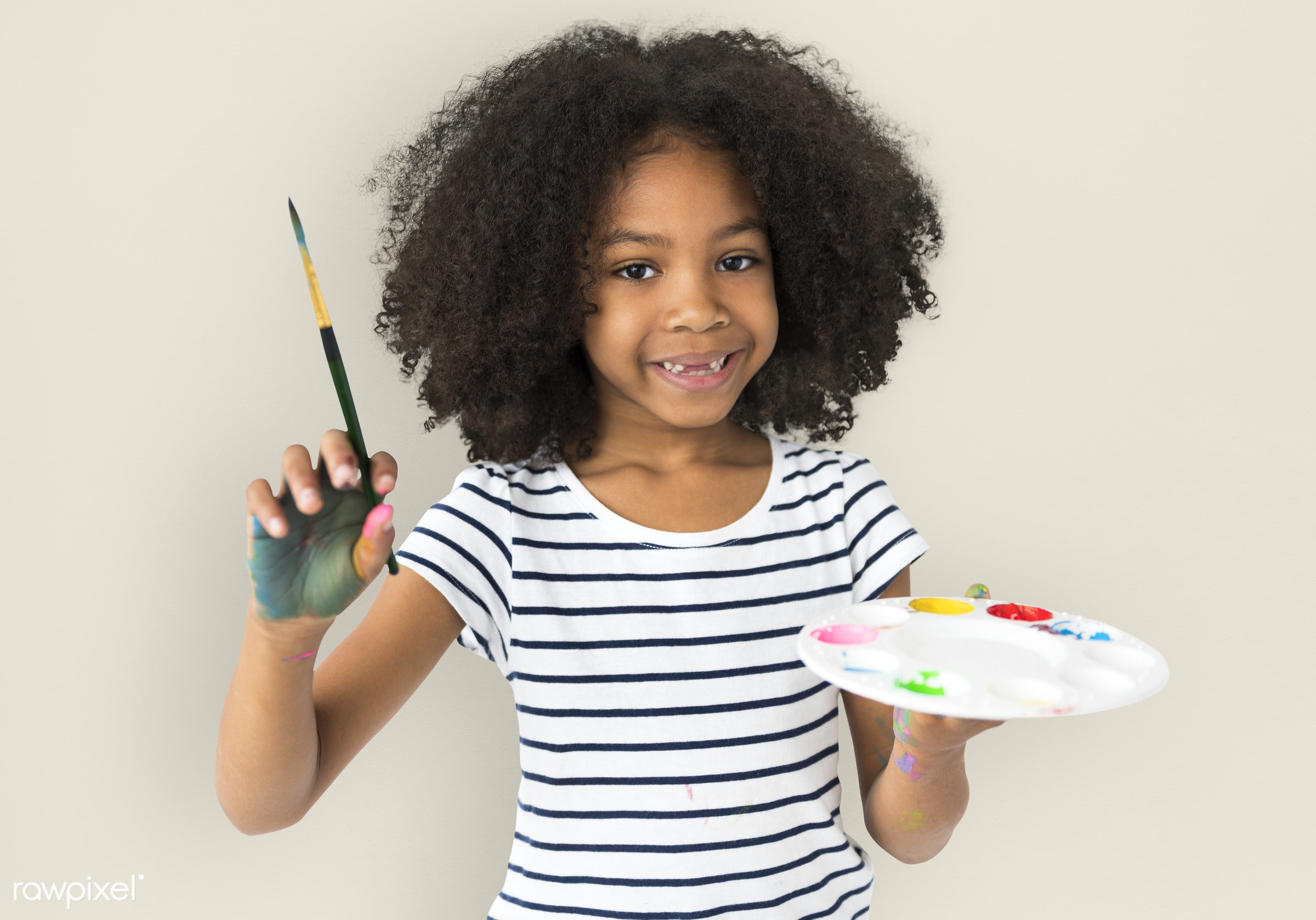 studio, expression, person, little, people, solo, childhood, smile, alone, isolated, little girl, colors, hold, art, paint,...