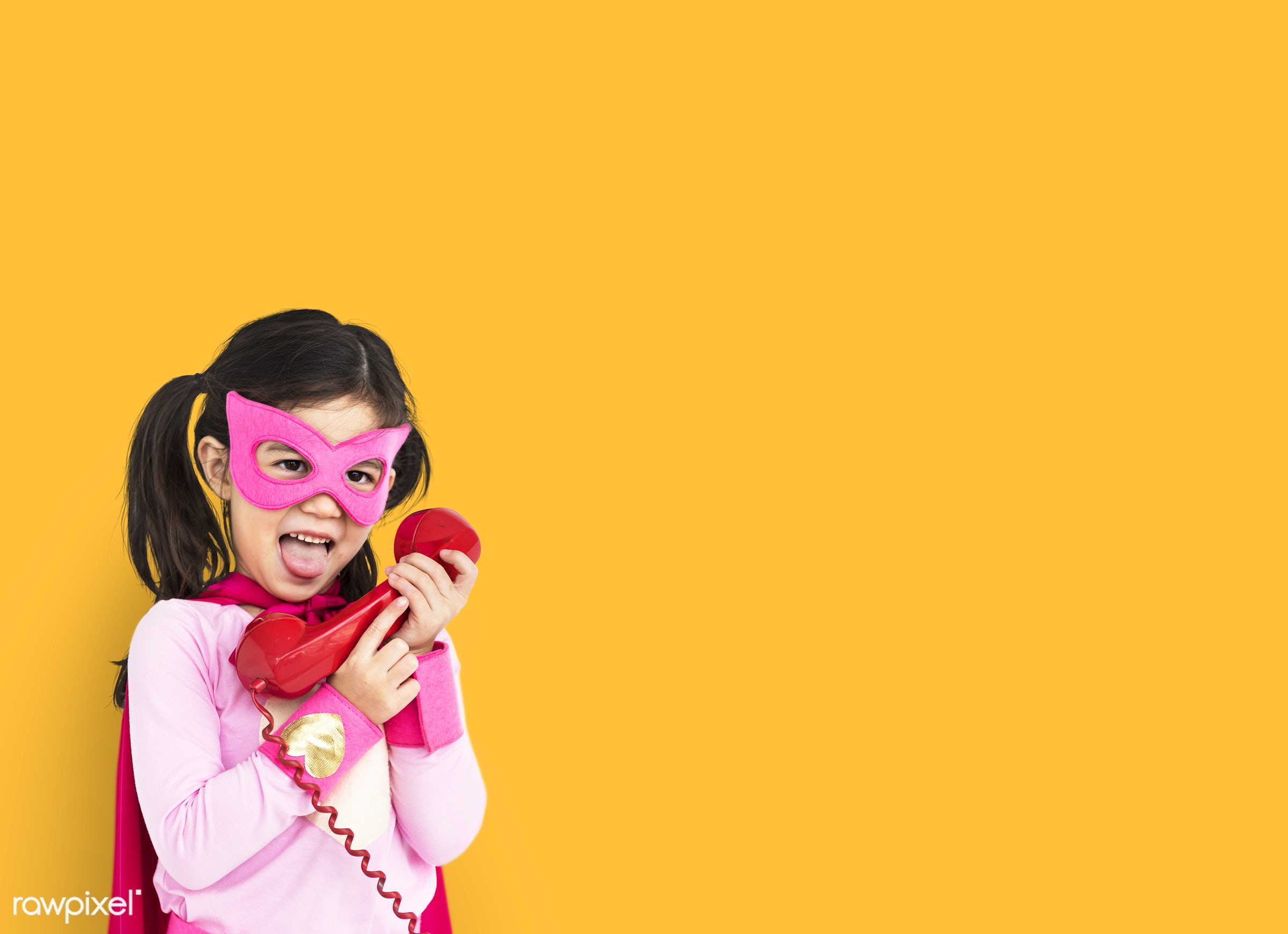 studio, expression, person, mask, yellow, people, kid, telecommunication, solo, mixed race, childhood, smile, cheerful,...