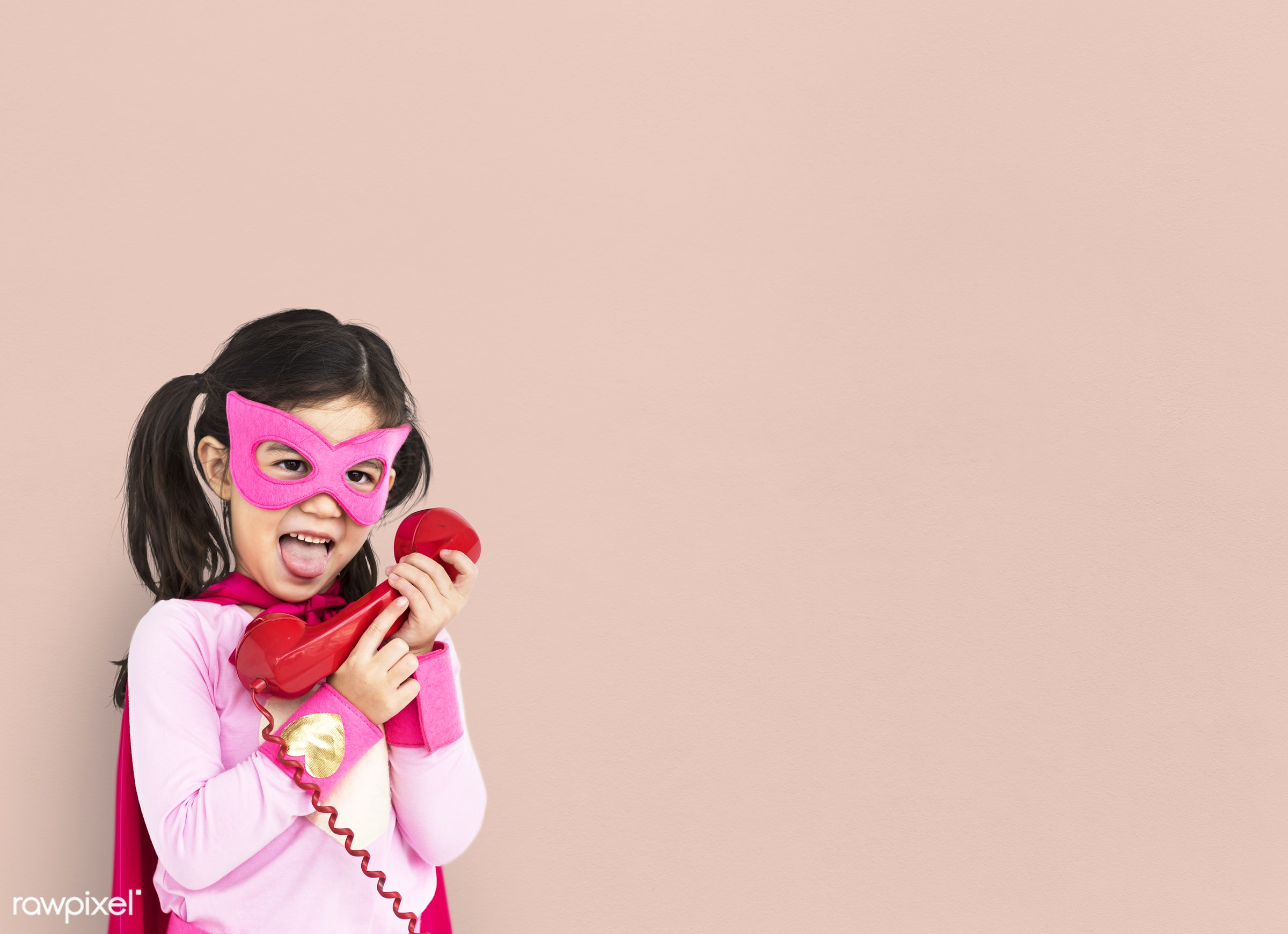 studio, expression, person, mask, people, kid, telecommunication, solo, pink, mixed race, childhood, smile, cheerful,...