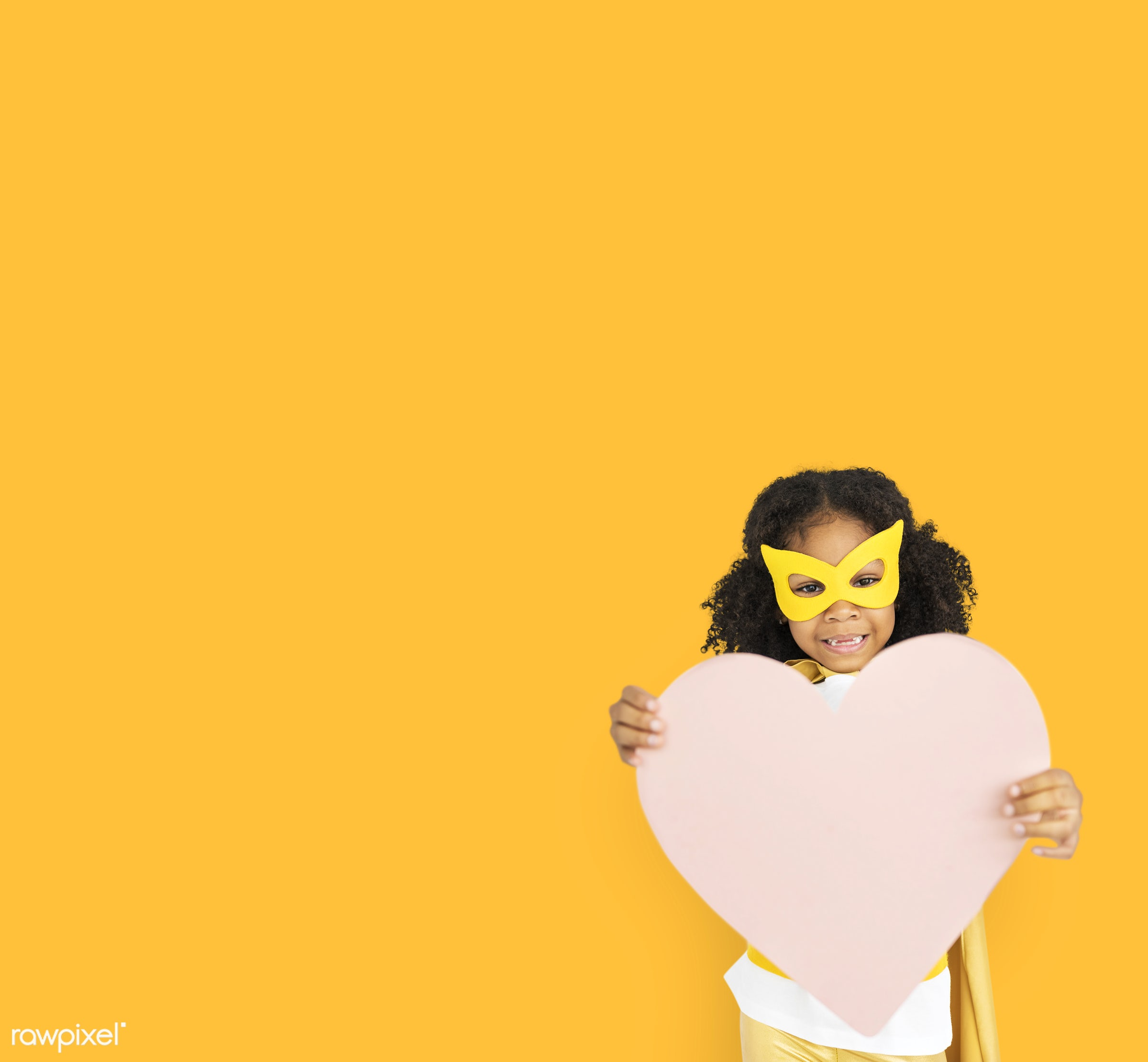 studio, expression, person, holding, mask, yellow, people, kid, love, solo, childhood, smile, cheerful, smiling, isolated,...