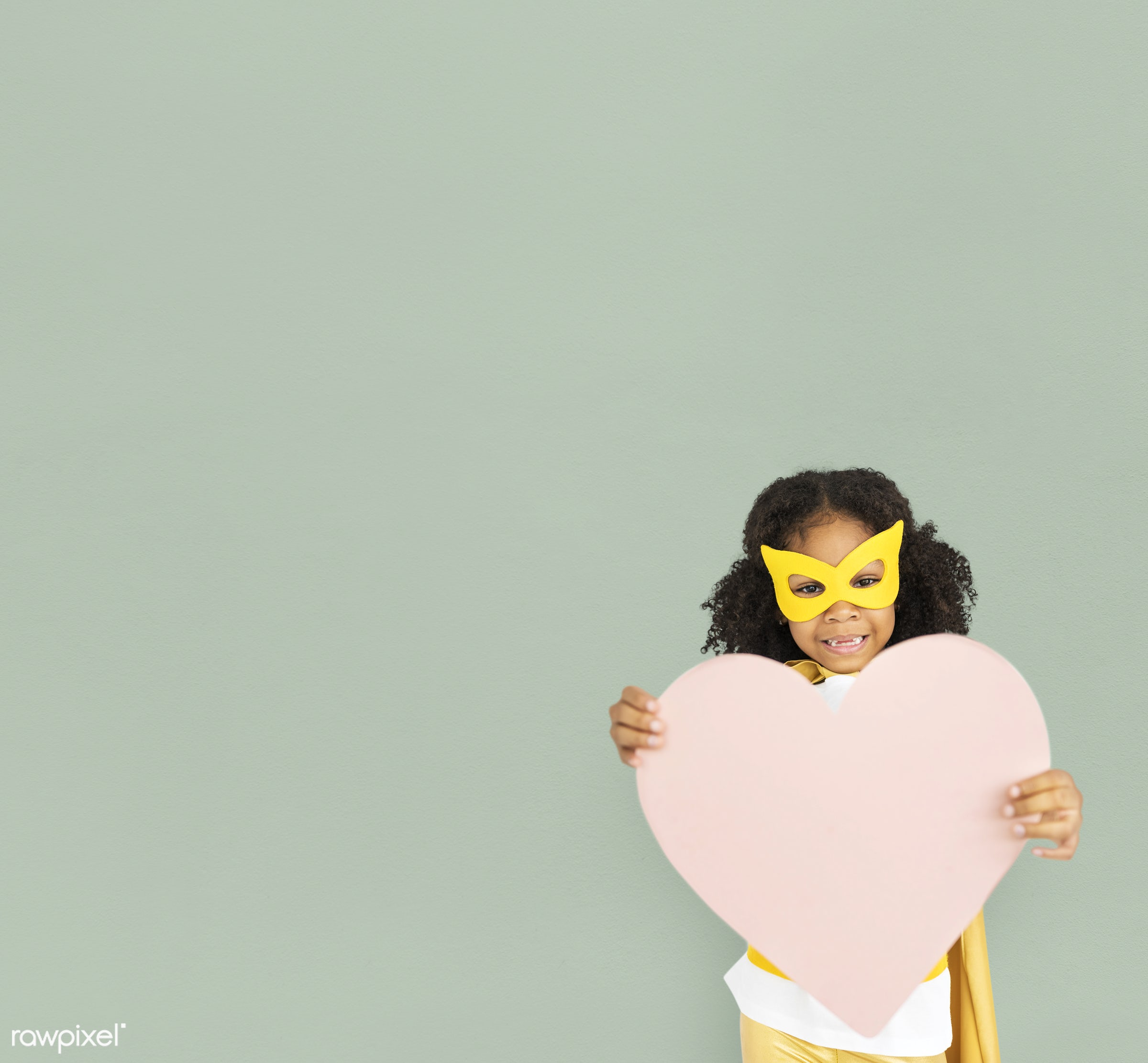 studio, expression, person, holding, mask, people, kid, love, solo, childhood, smile, cheerful, smiling, isolated, little...