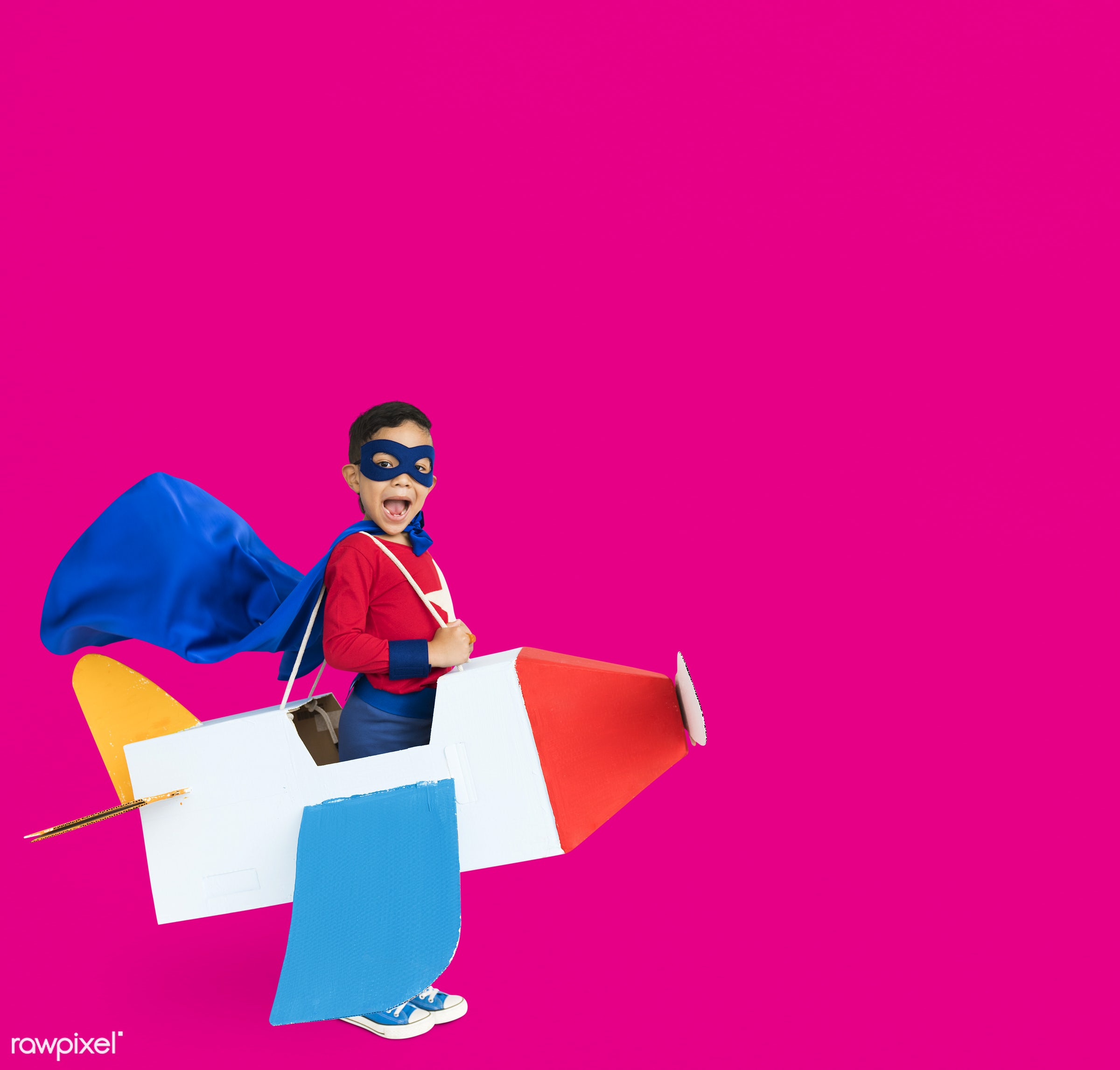 studio, expression, person, mask, people, kid, solo, pink, childhood, smile, cheerful, smiling, isolated, airplane,...