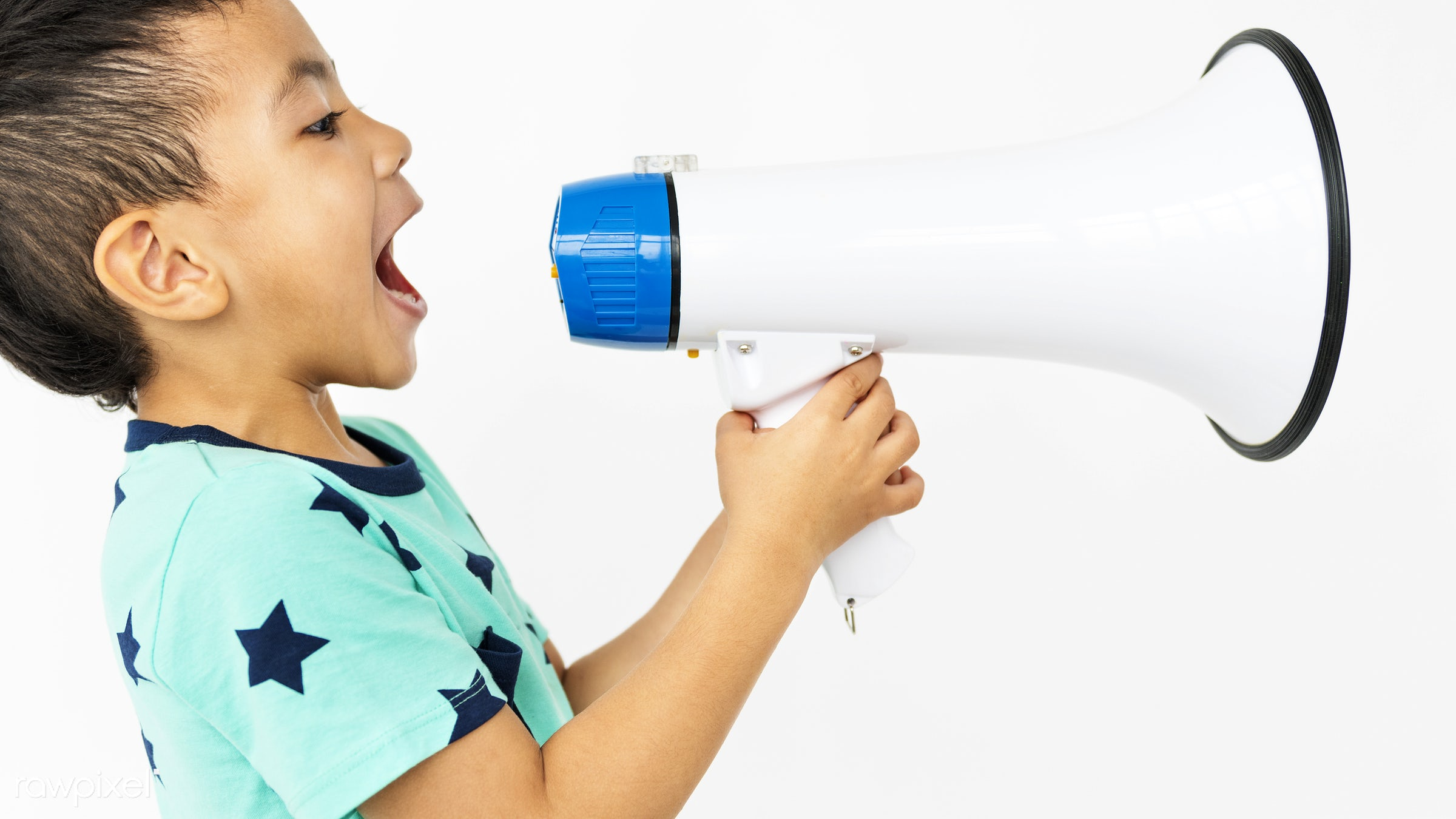 alone, boy, cheerful, child, children, isolated, kid, one, playful, smiling, young, youth, speaker, loud, megaphone, sound,...