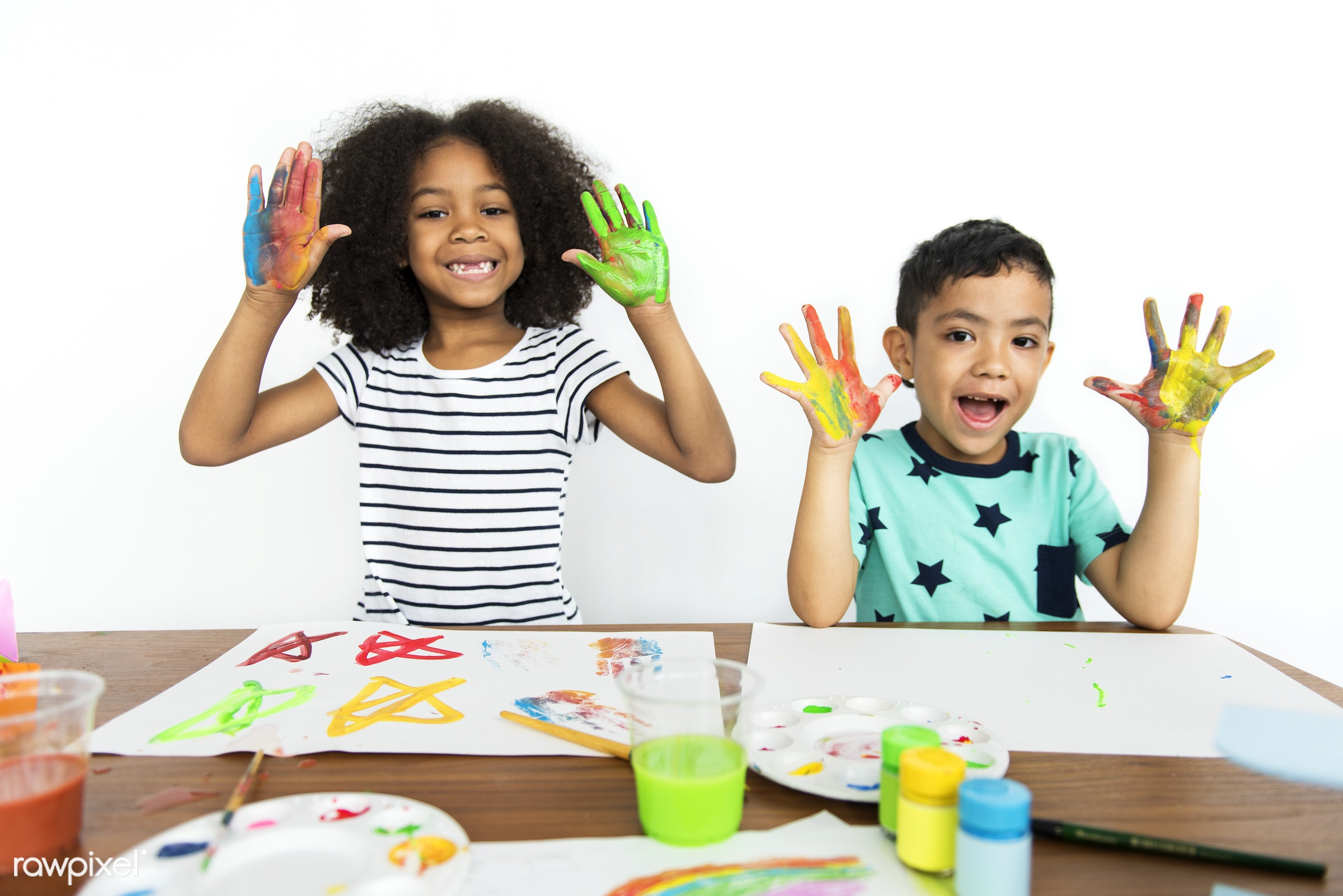 art, color, paints, painting, leisure, hobby, cheerful, child, children, diversity, friends, friendship, group, isolated,...