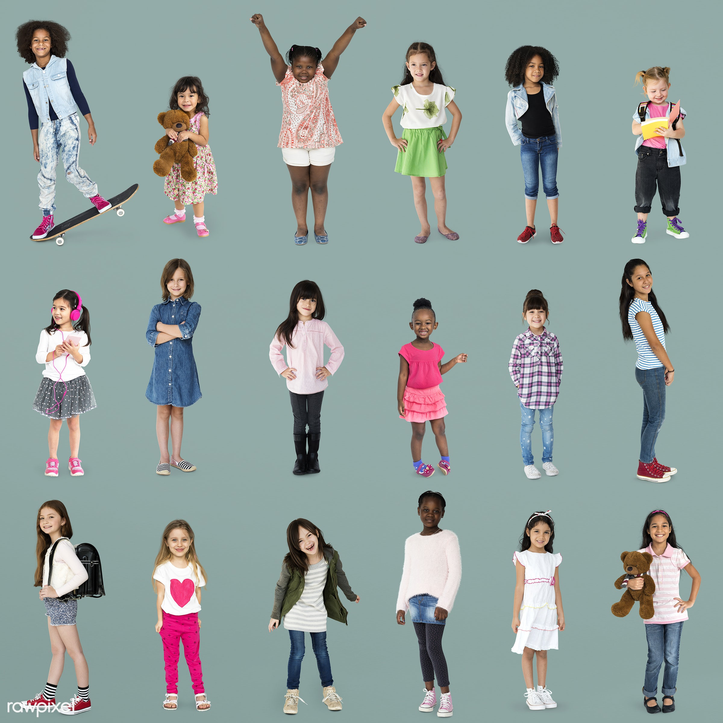 studio, person, diverse, set, children, little, entertain, collection, recreation, pretty, people, caucasian, asian, child,...
