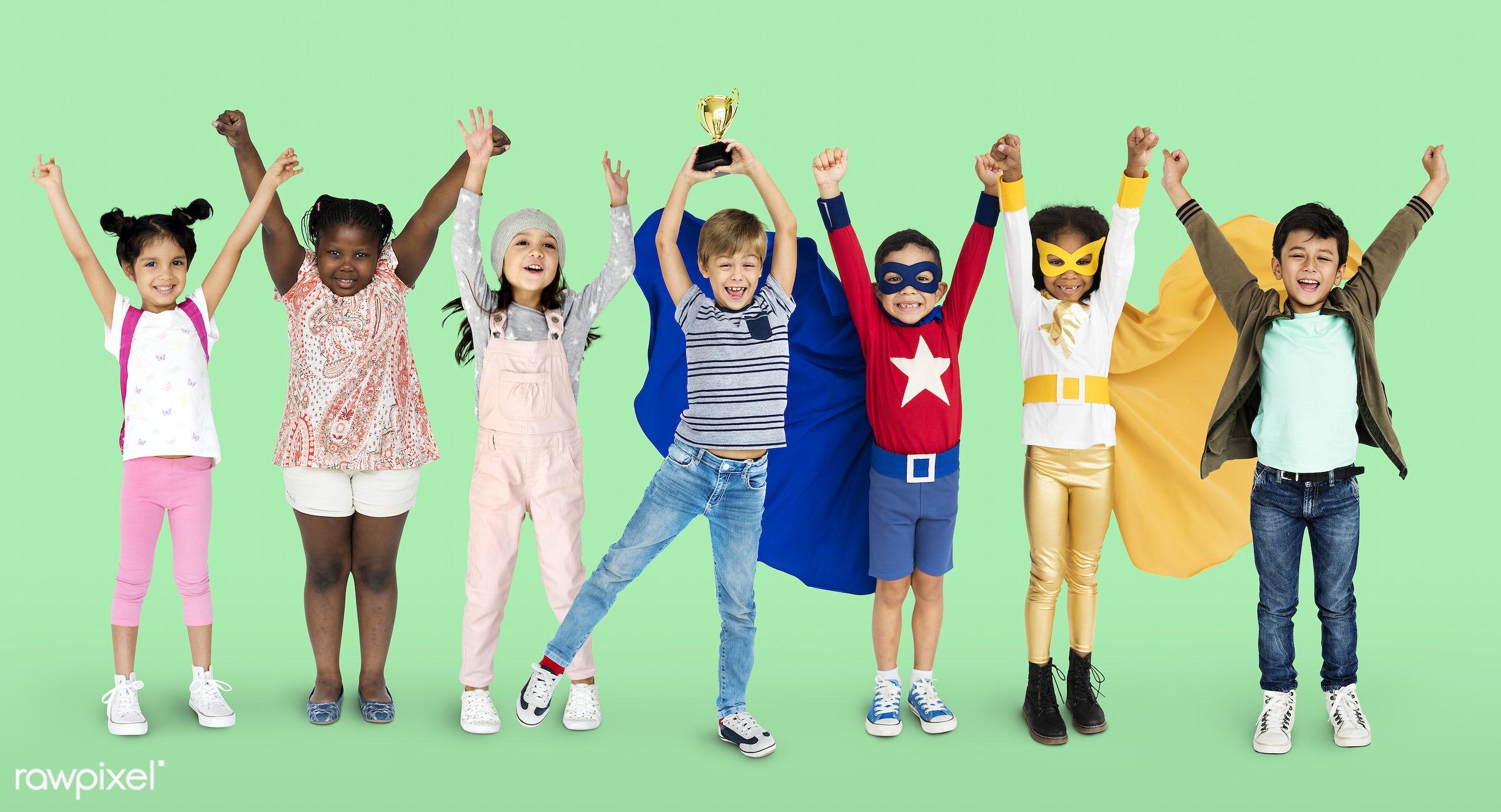 studio, person, little, winner, people, together, kid, teamwork, friends, friendship, childhood, studio squareset, cheerful...