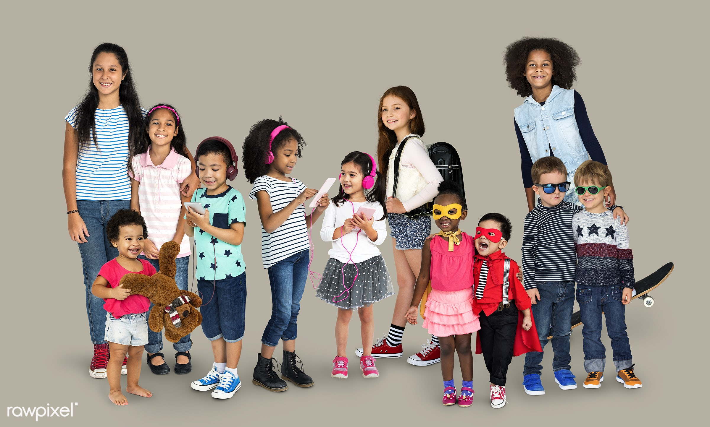 studio, person, diverse, innocent, little, recreation, people, asian, caucasian, little girls, teenager, lifestyle, studio...