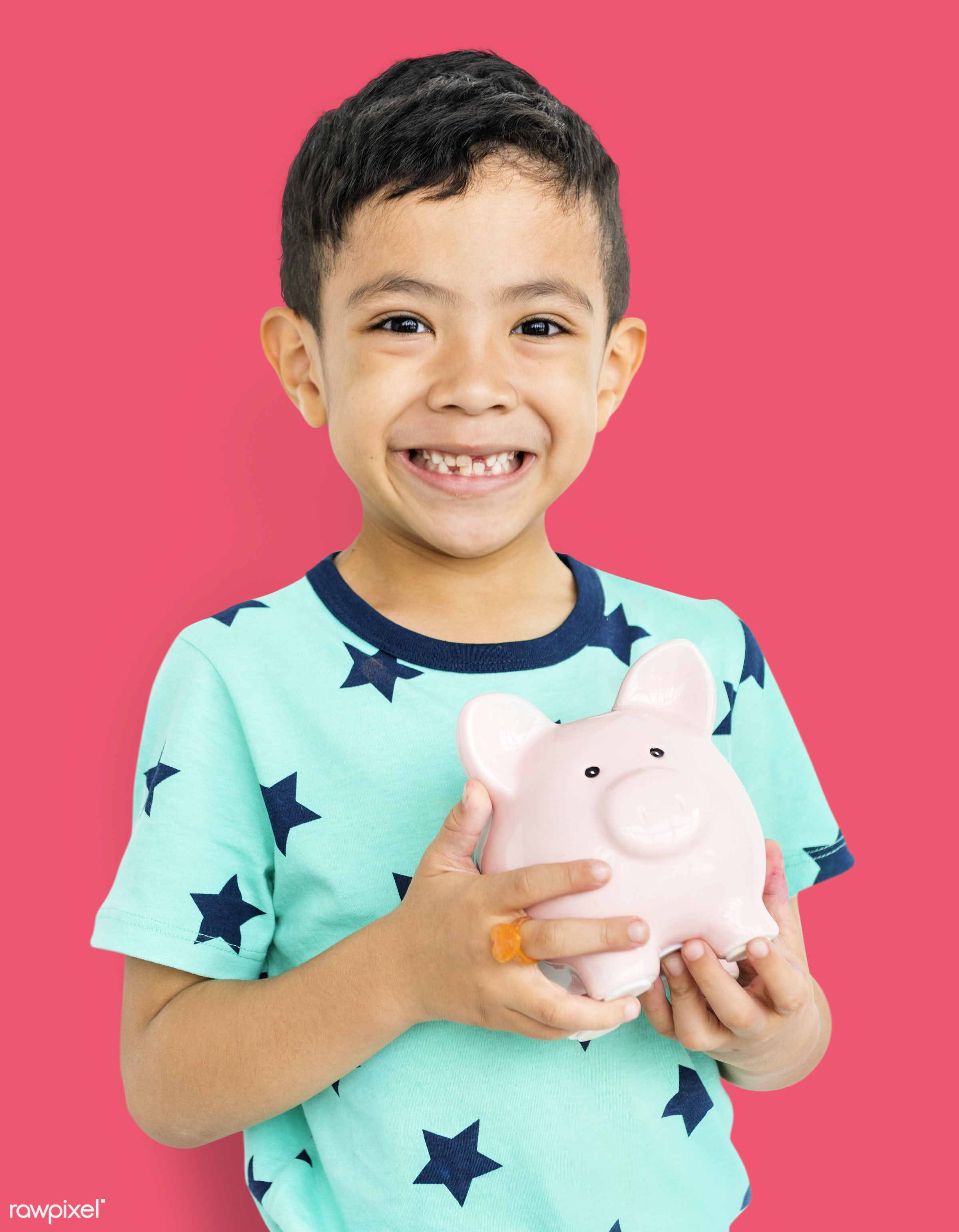 alone, boy, cheerful, child, children, isolated, kid, one, playful, smiling, young, youth, piggy bank, earning, money,...