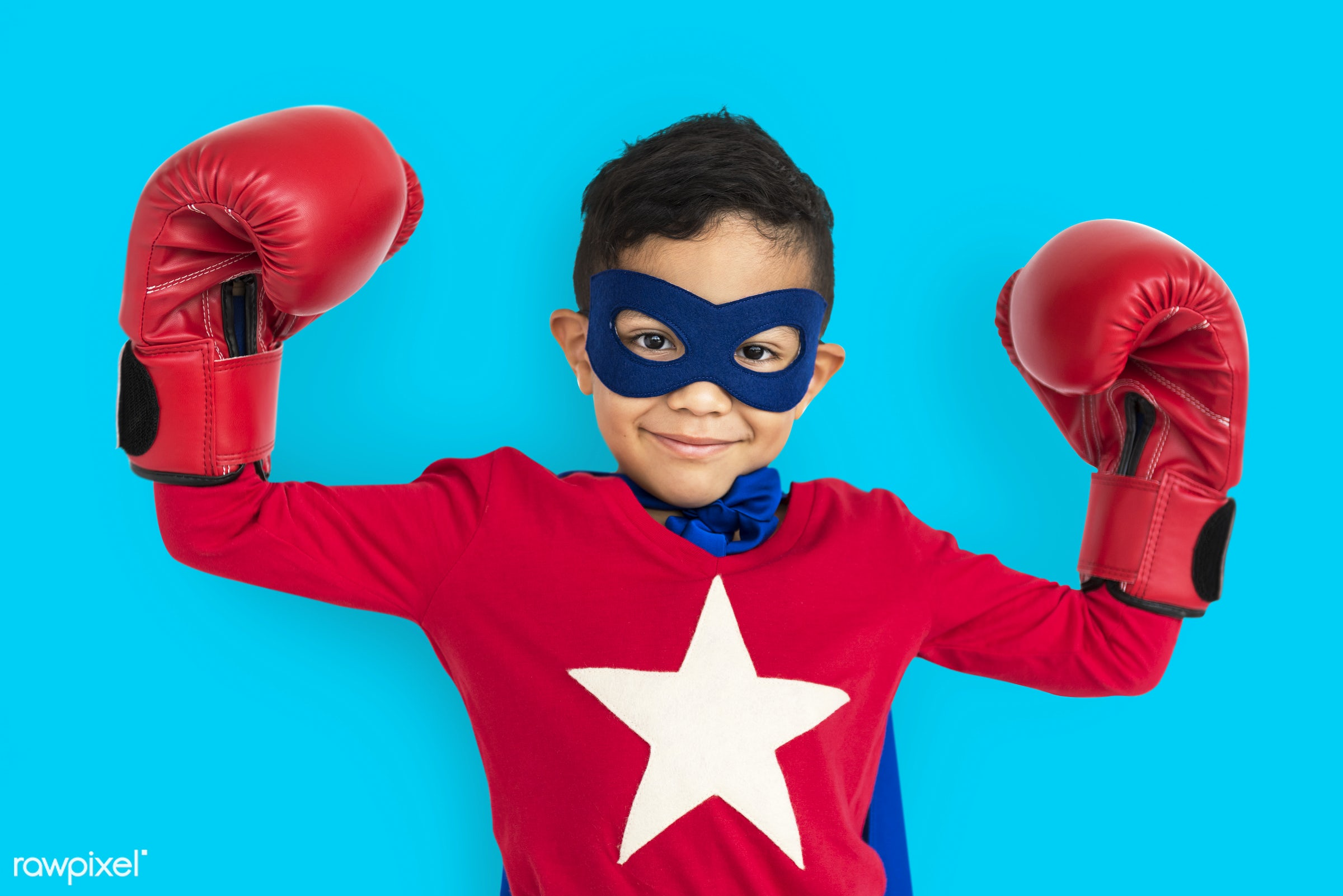 studio, expression, person, mask, cute, boxing glove, pretty, people, child, happy, casual, childhood, cheerful, smiling,...